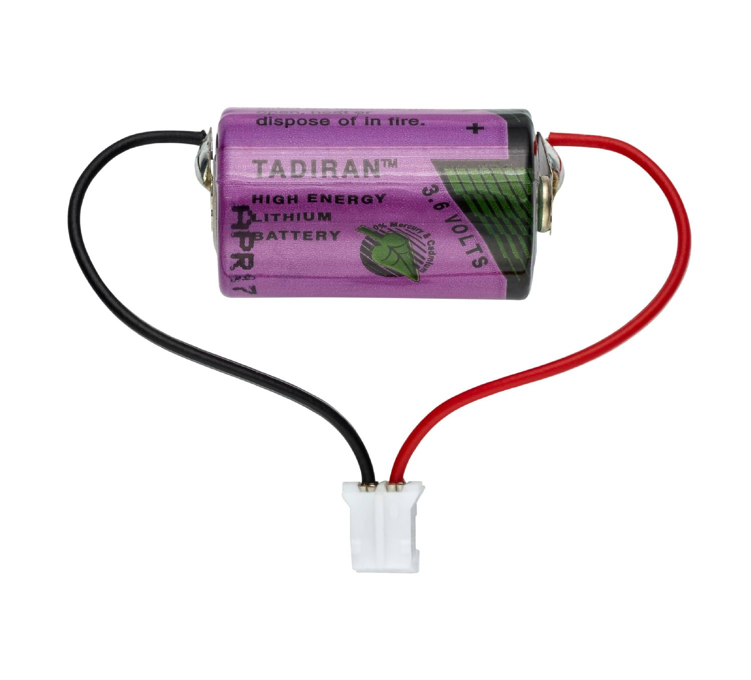 Battery, 3.6 V/0.8 Ah 1/2 AA
