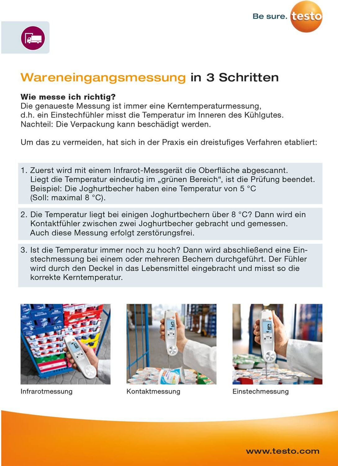 Trainingskarte - Wareneingangsmessung