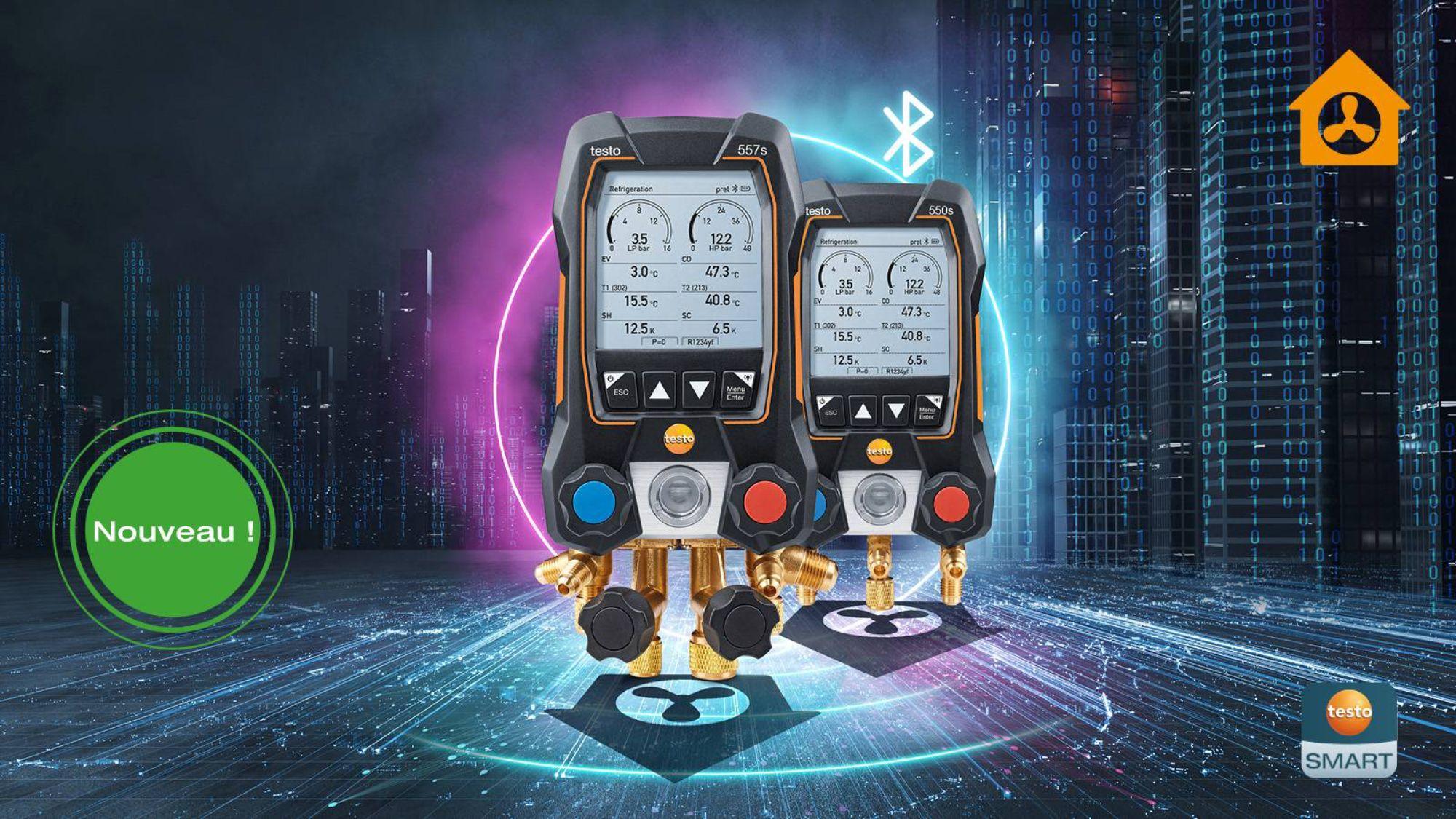 Manifolds électroniques testo 557s et testo 550s
