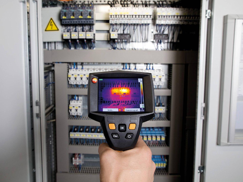 電気設備や配管の熱漏れ、保全診断用サーモグラフィ