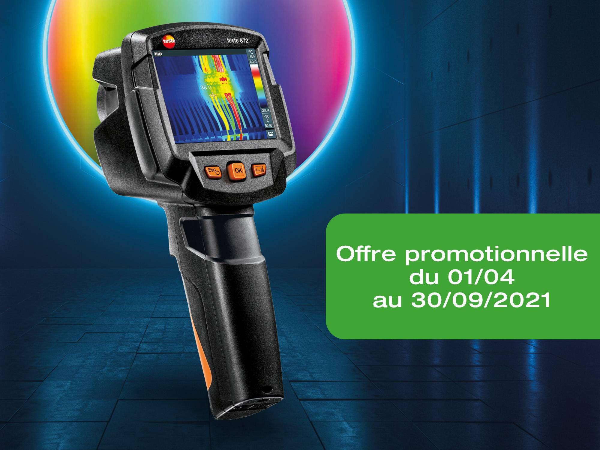 testo872: La thermographie intelligente, avec une qualité d'image maximale.