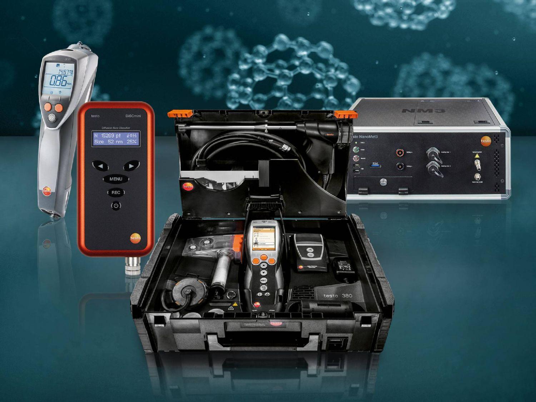Testo bietet Partikelmessgeräte für die unterschiedlichsten Einsatzgebiete.