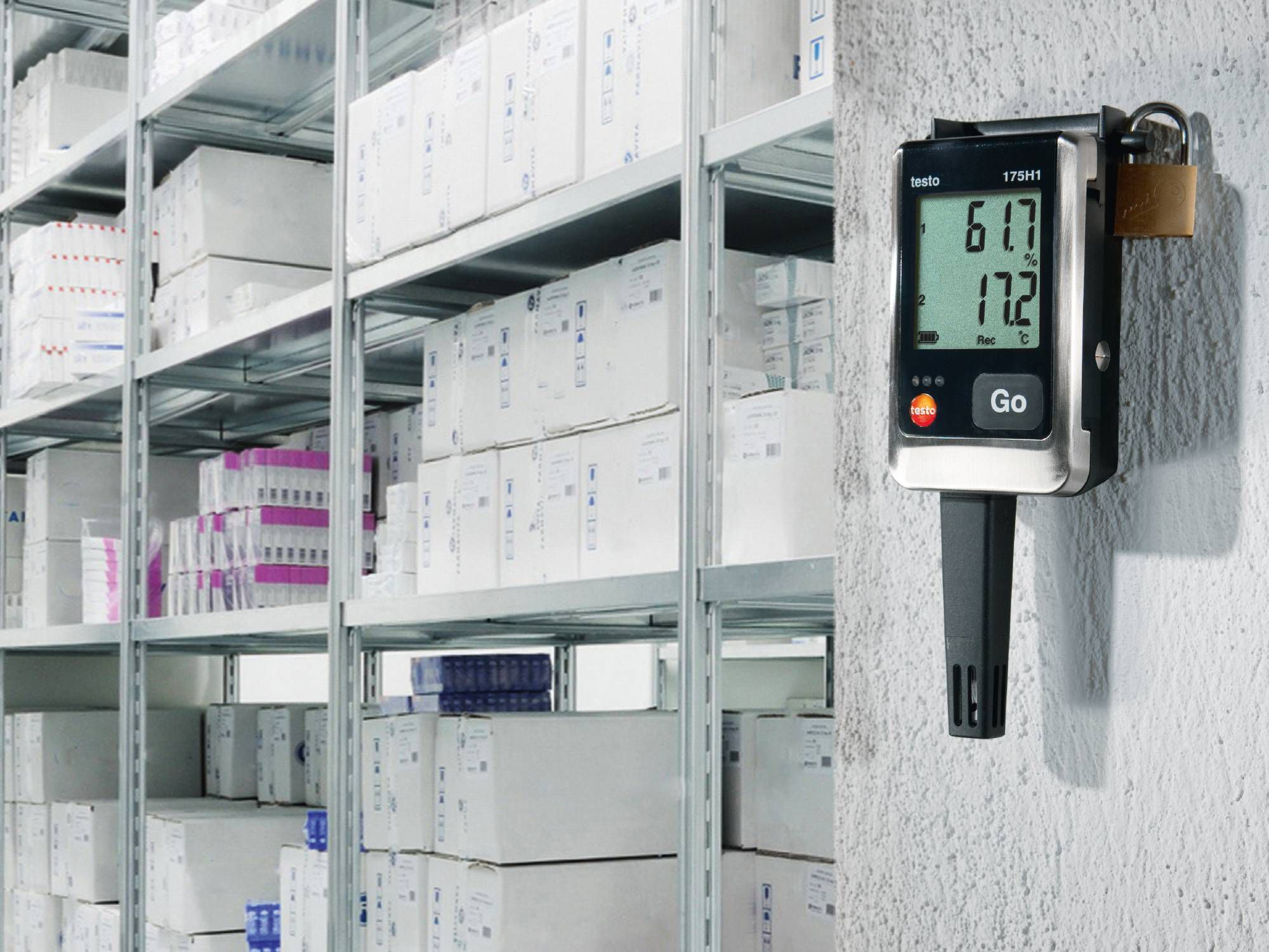 The testo 175 H1 data logger ensures the correct IAQ parameters for storing drugs.