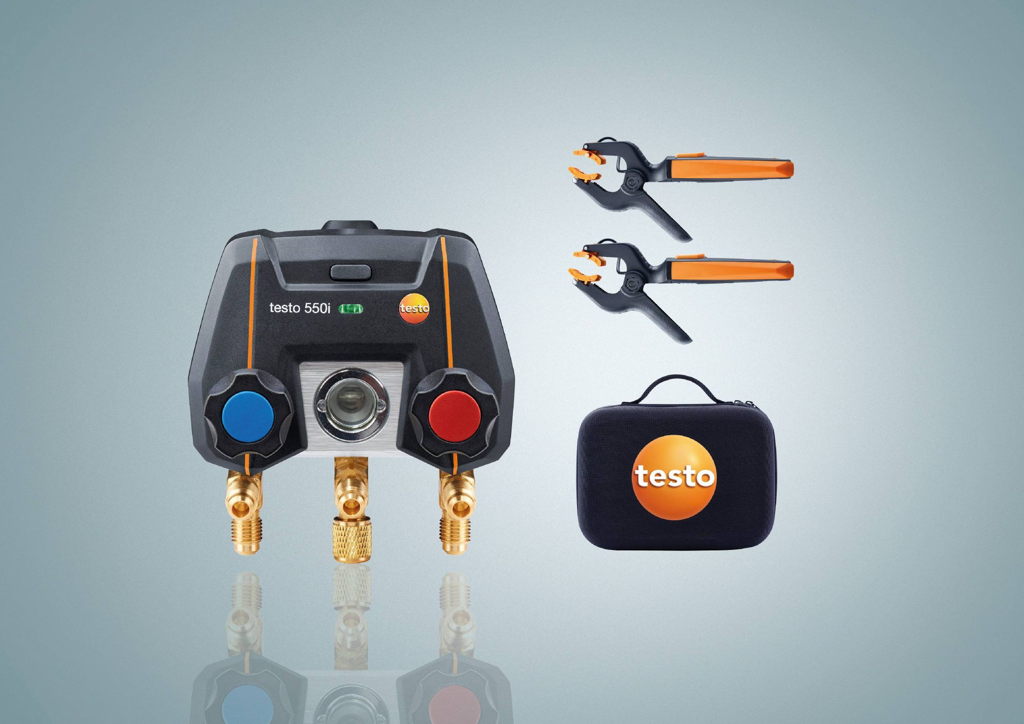 testo 550i Smart Kit - App operated Manifold with wireless Temperature Probes