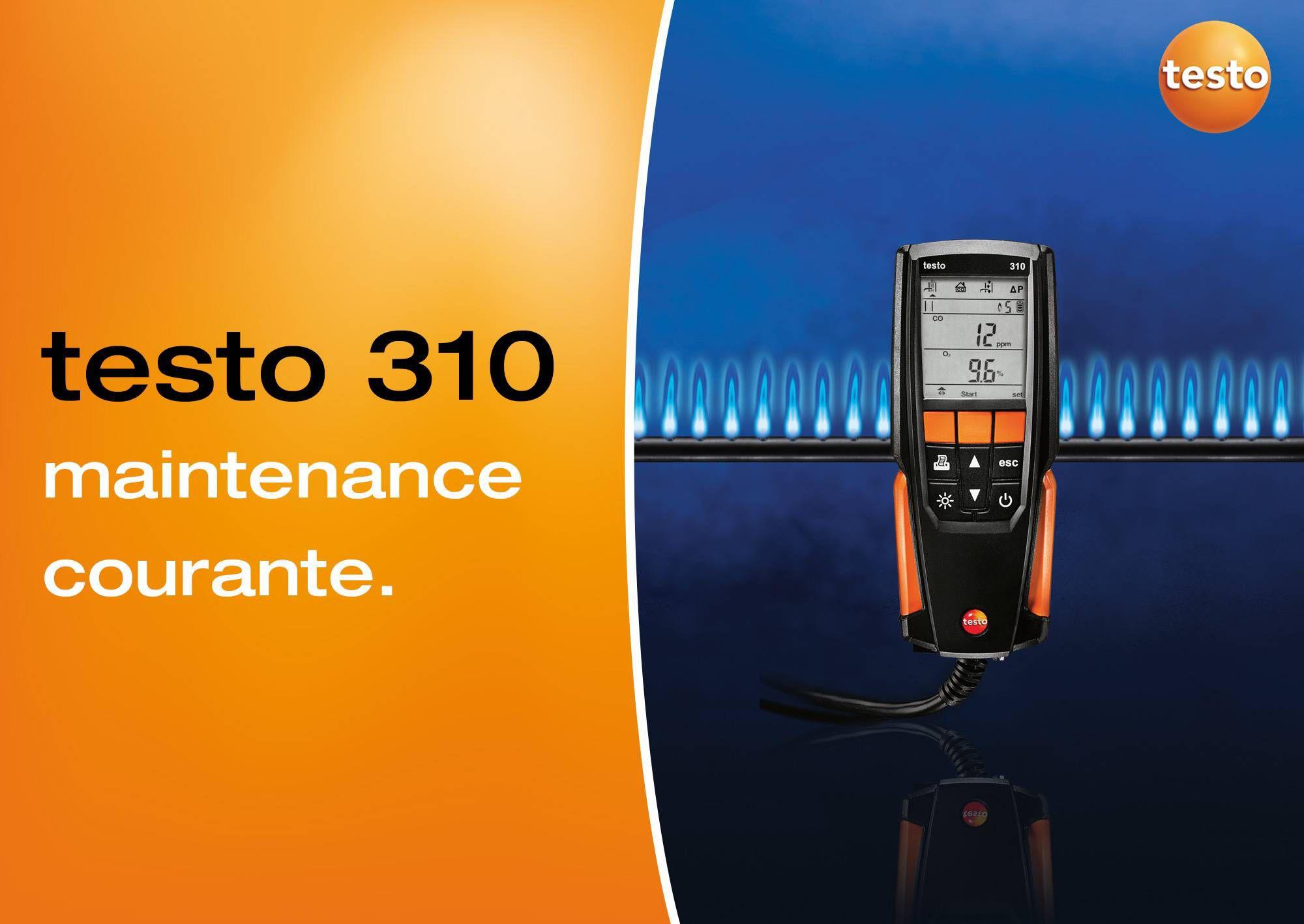 tutoriel vidéo maintenance courante testo 310