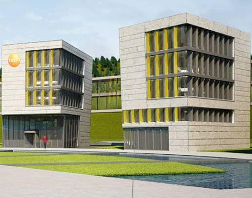 Testo-Innovationszentrum in Titisee mit 2. Teilabschnitt.