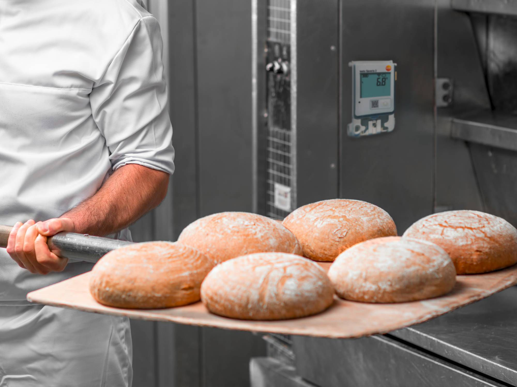 Temperature monitoring in a baker's shop
