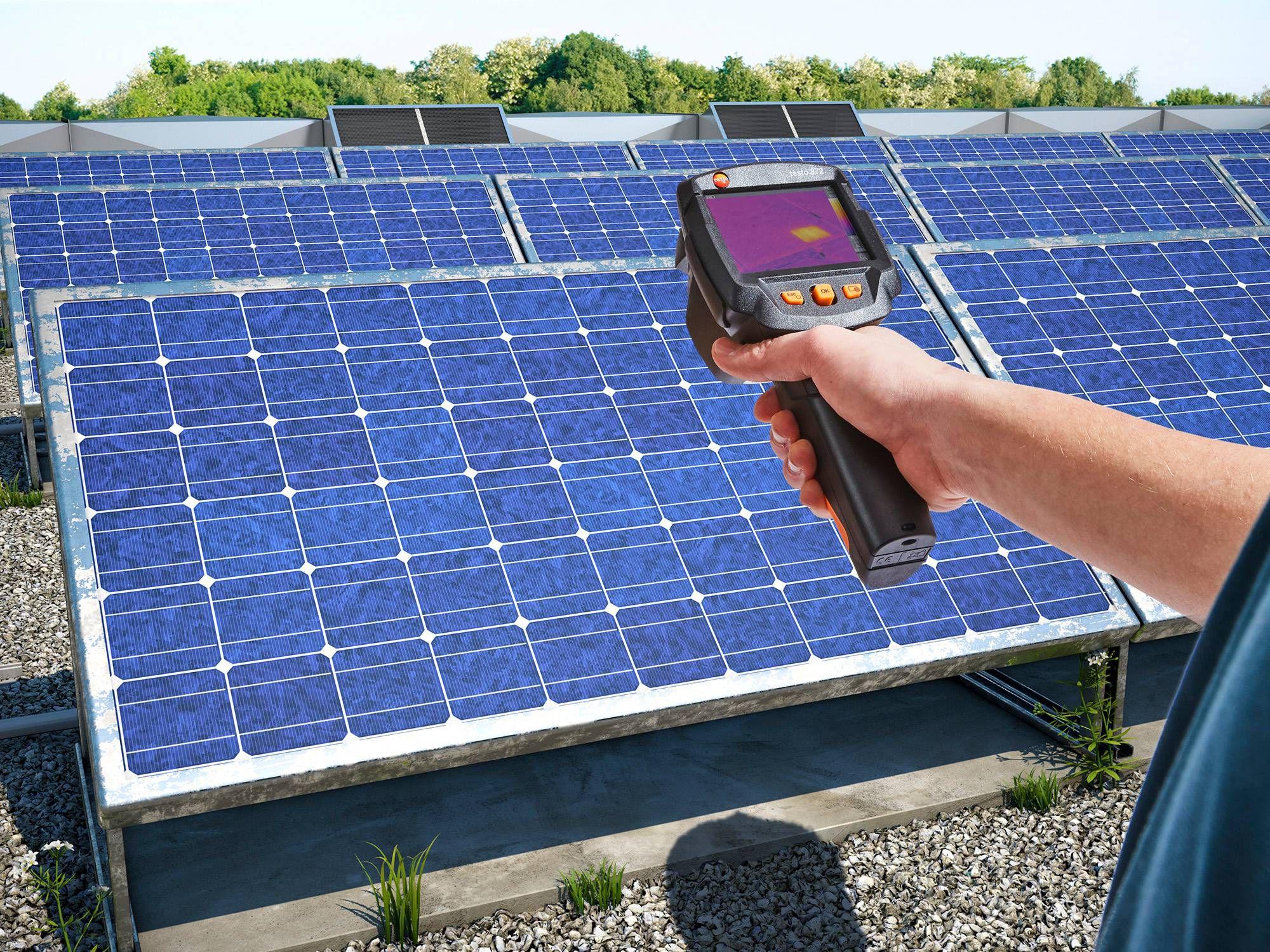 Fotovoltaikus rendszerek megfigyelése hőkamerákkal