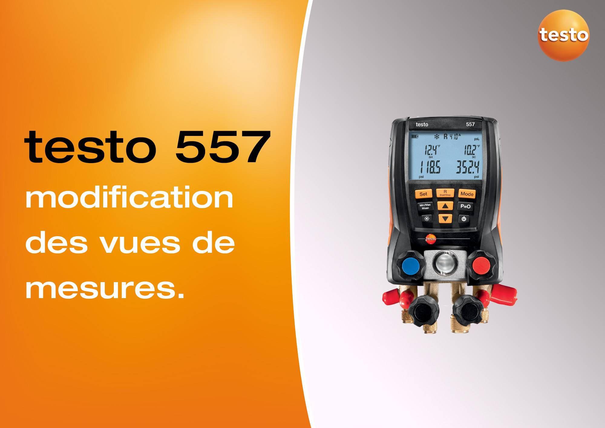Tutoriel vidéo modification des vues de mesure manomètre testo 557