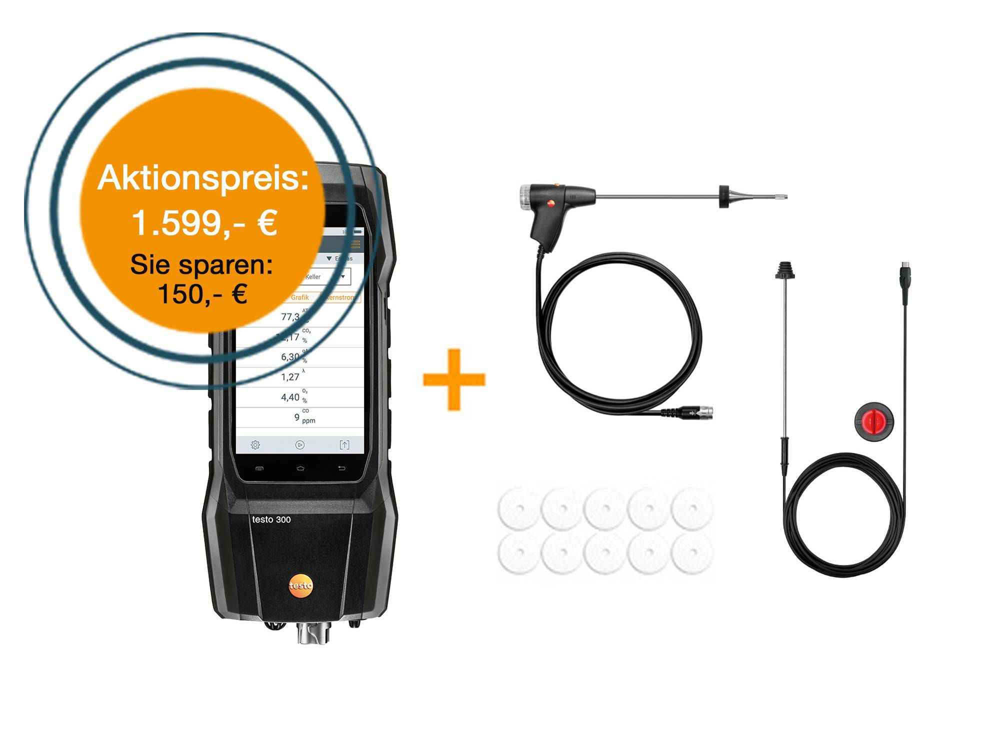 testo 300 SE Long Life Set zum Aktionspreis