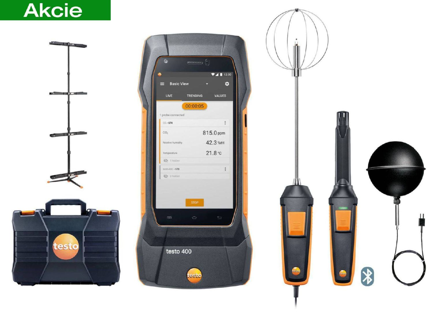 testo 400 IAQ and comfort kit with tripod