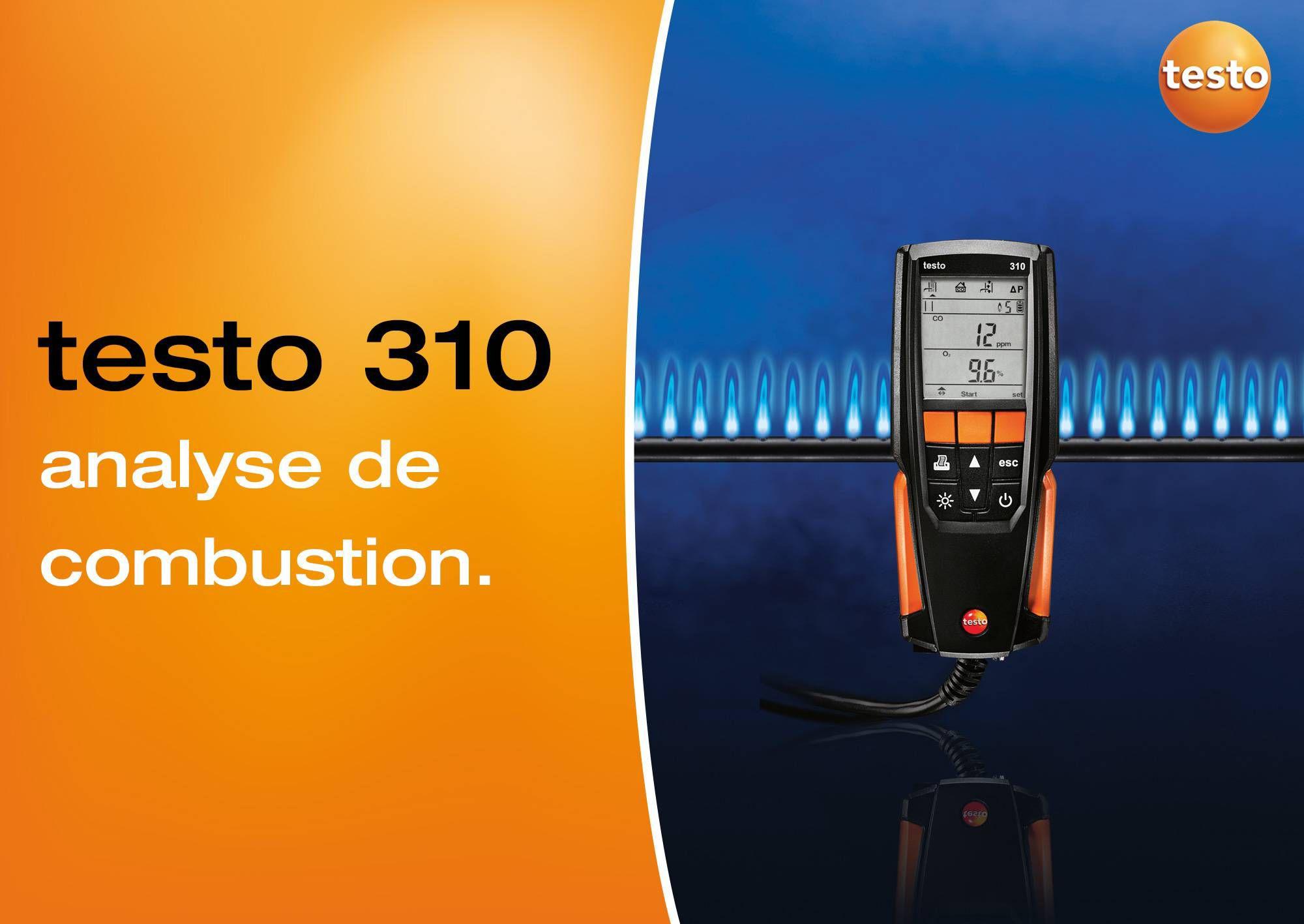 tutoriel vidéo analyse de combustion testo 310