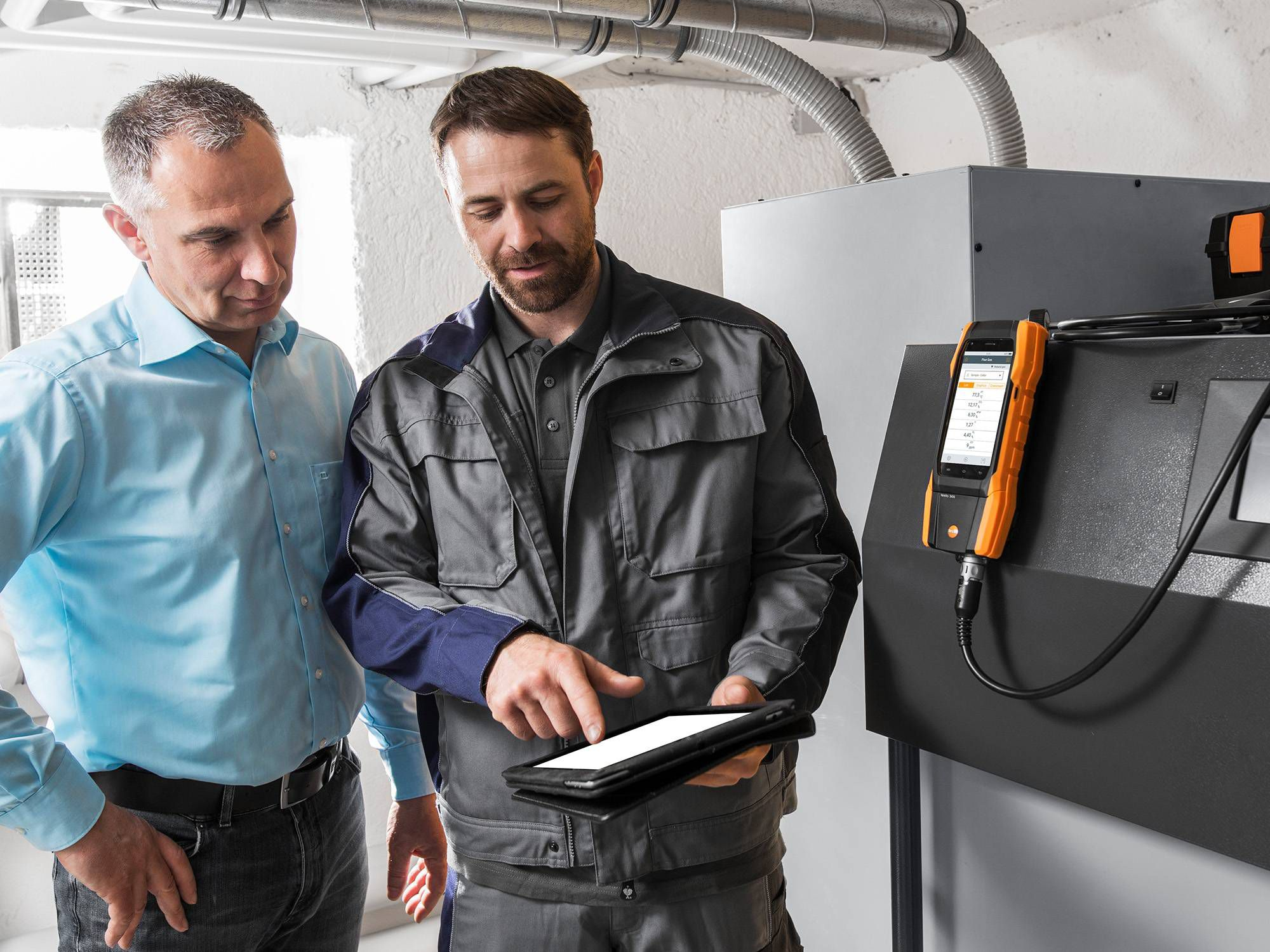 Testo flue gas analyzer documentation