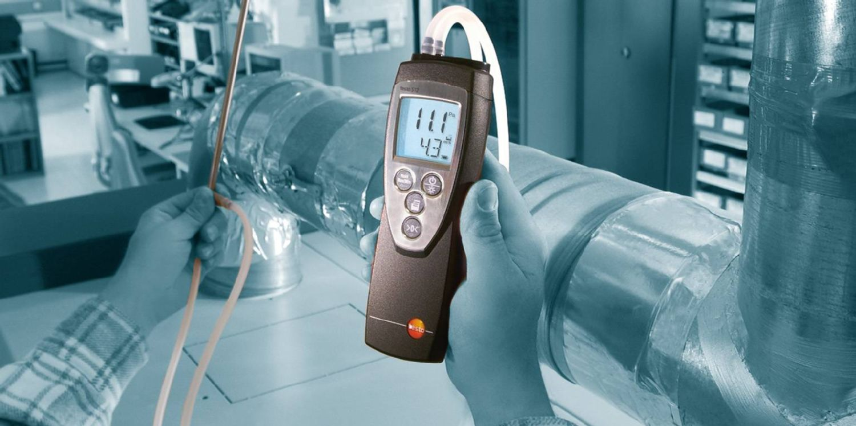 Differential pressure meter testo 512