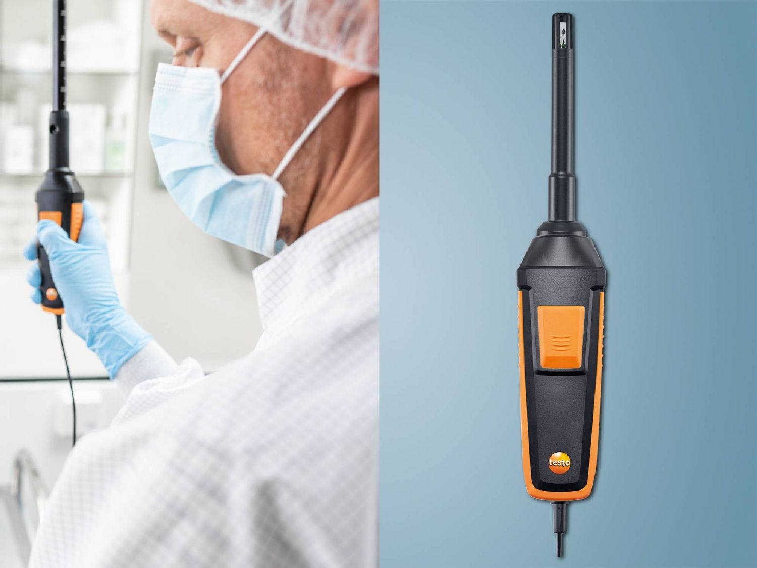 High-precision testo 440 Humidity/temperature probe