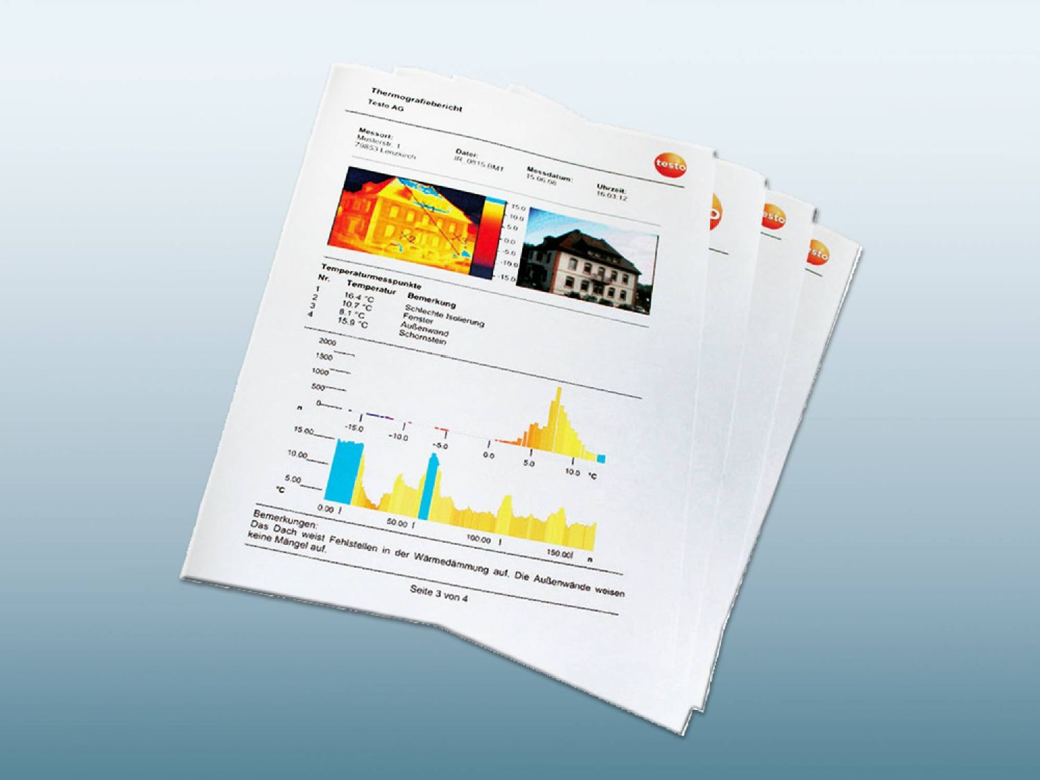 Create thermography report