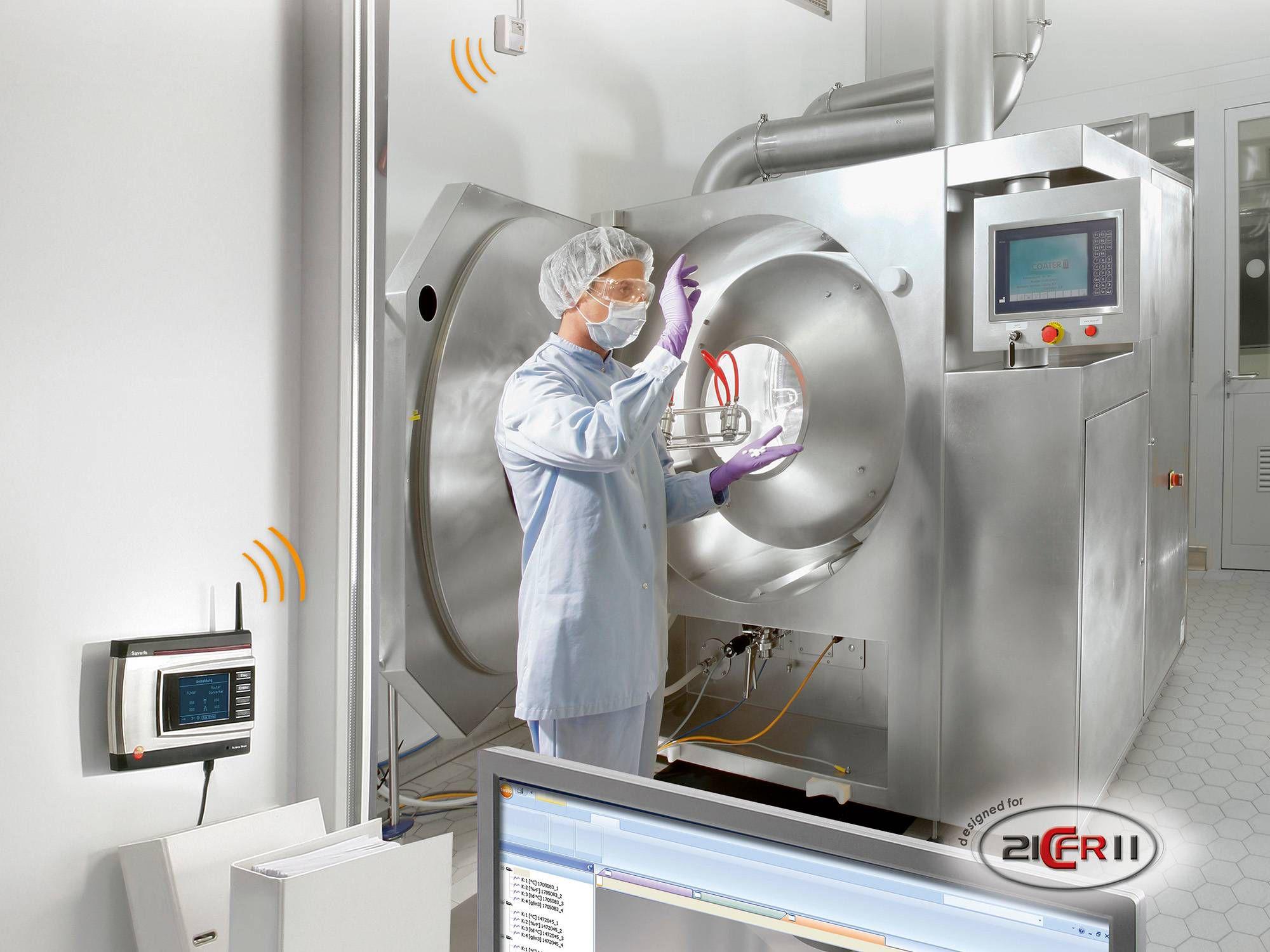 Data monitoring system testo Saveris in the pharmaceutical industry