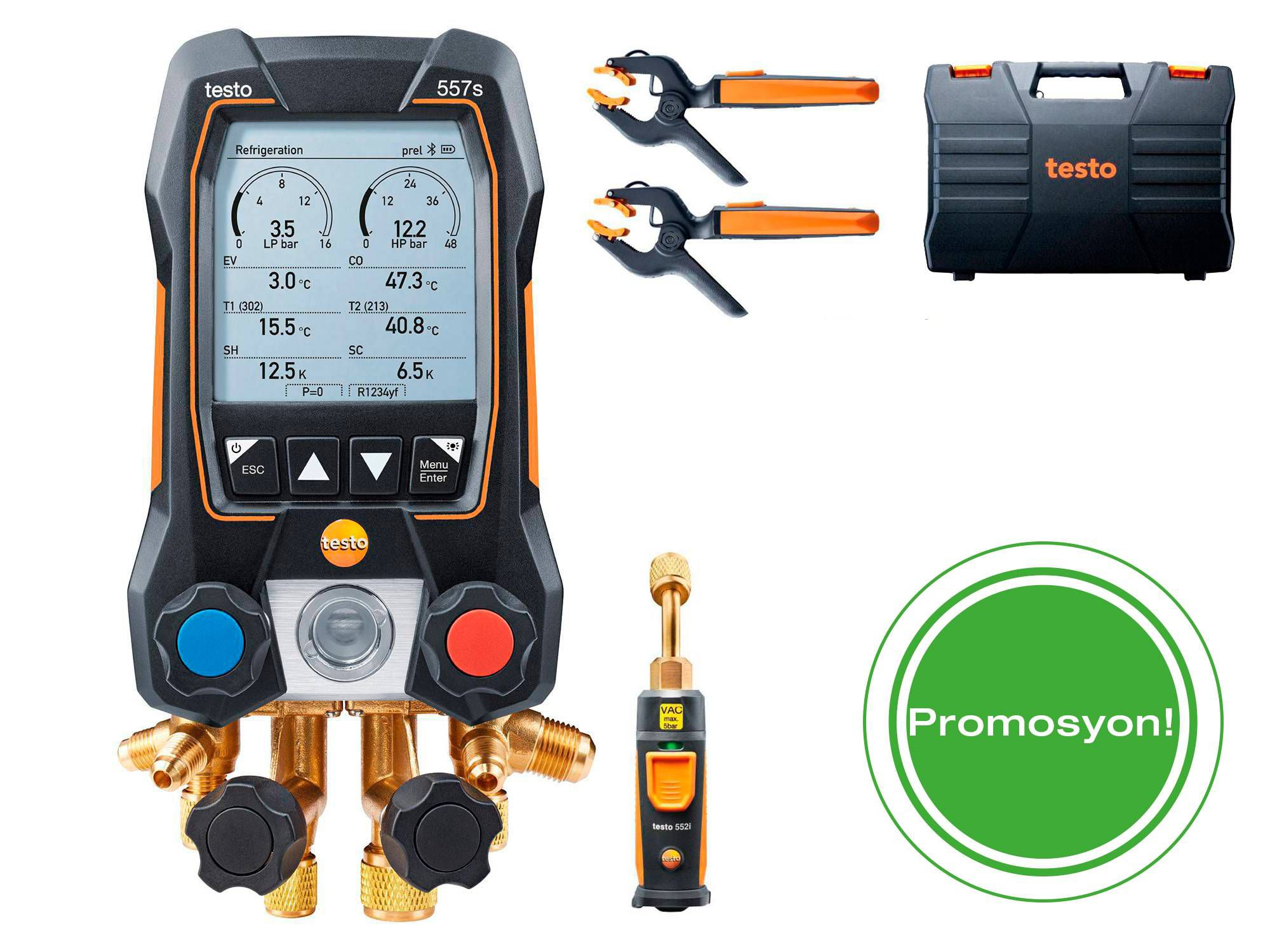 testo 557s Smart Vacuum Kit with filling hoses