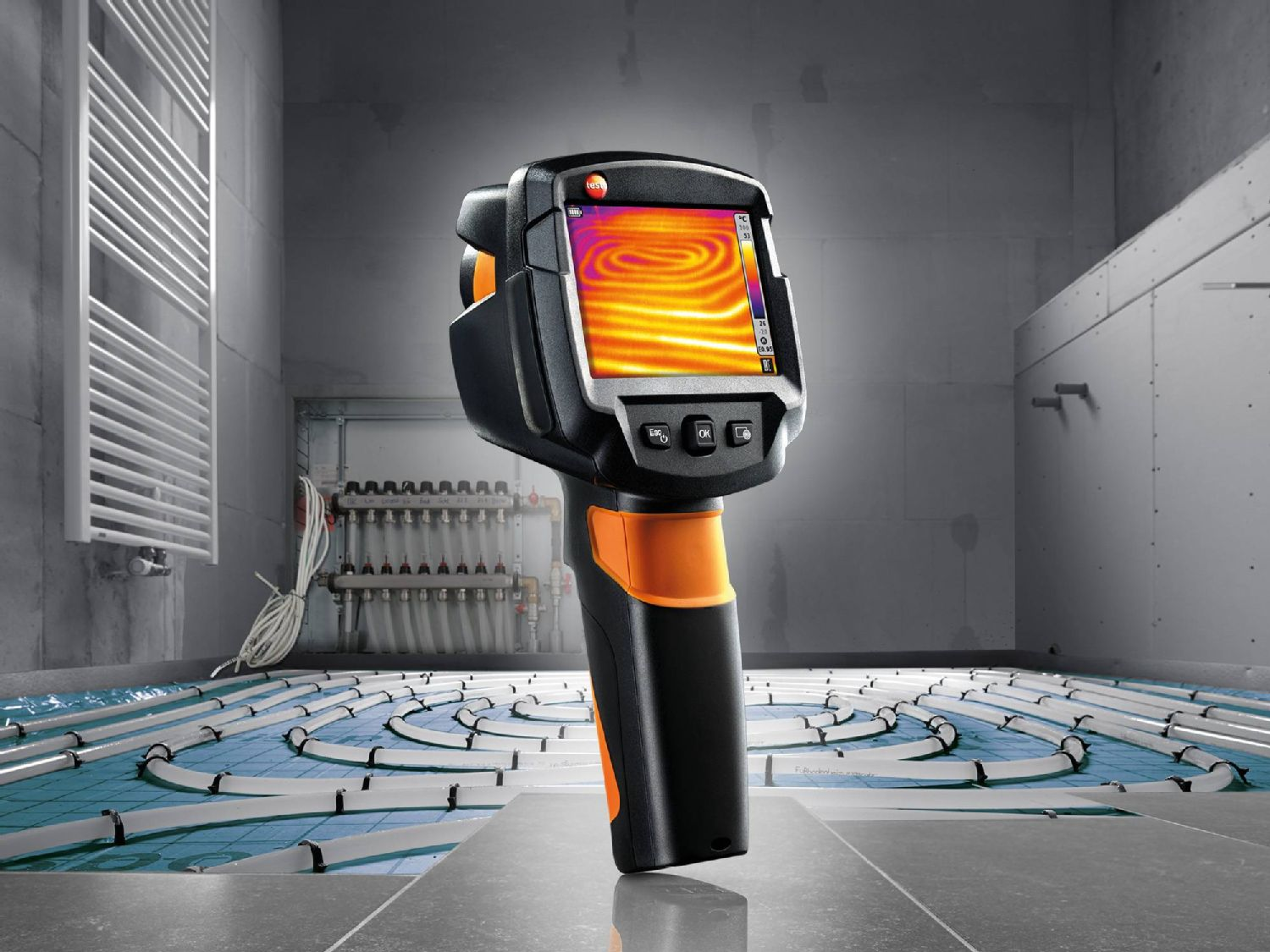 Leakage detection with thermal imagers