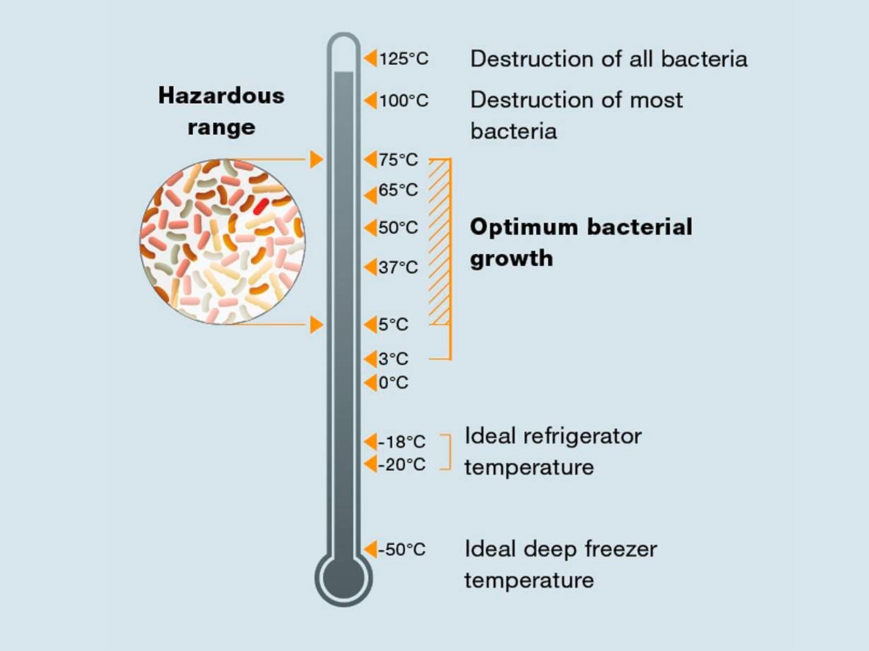 Germ development temperatures