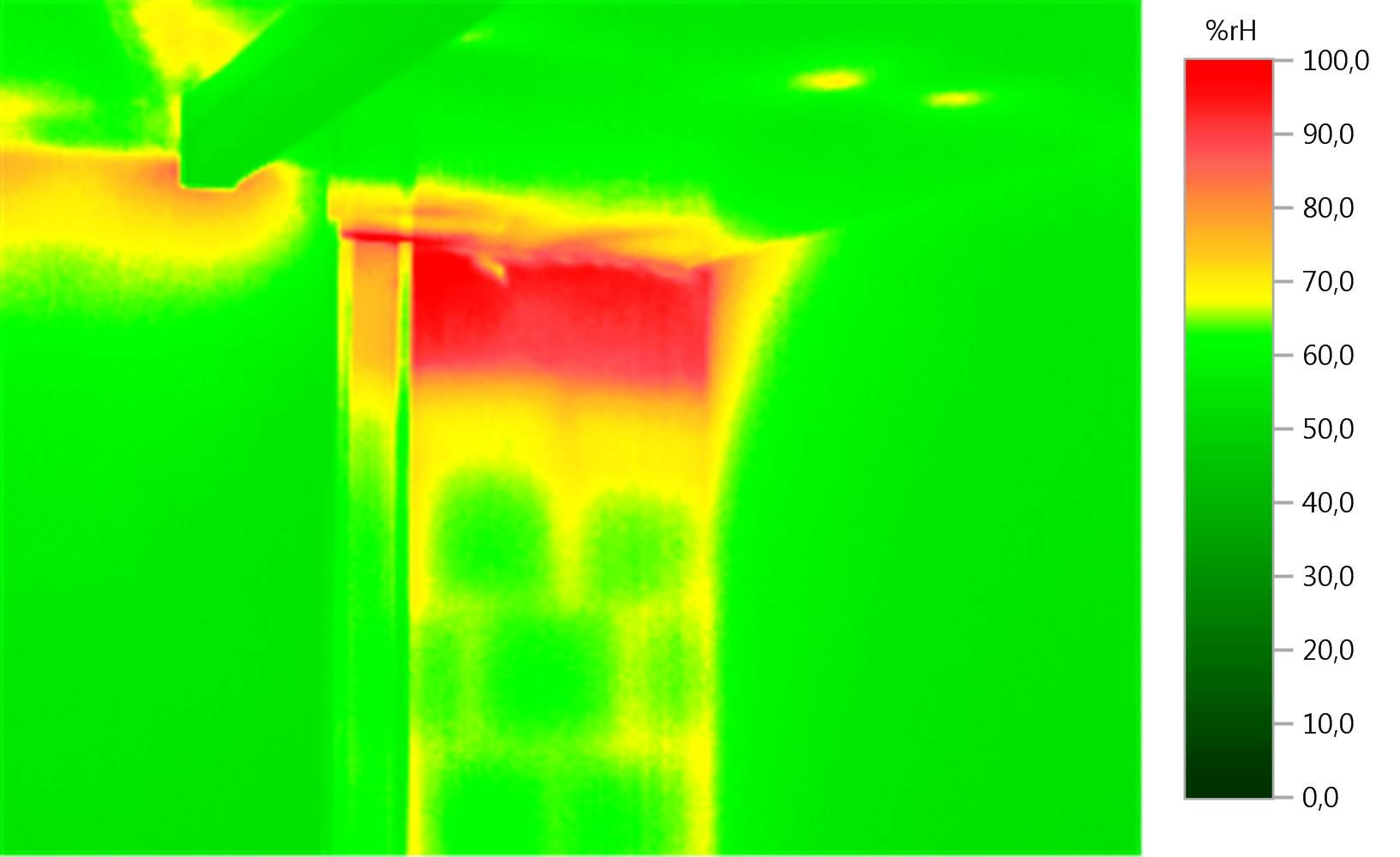 Thermal imager testo 871 - Investigating moisture damage