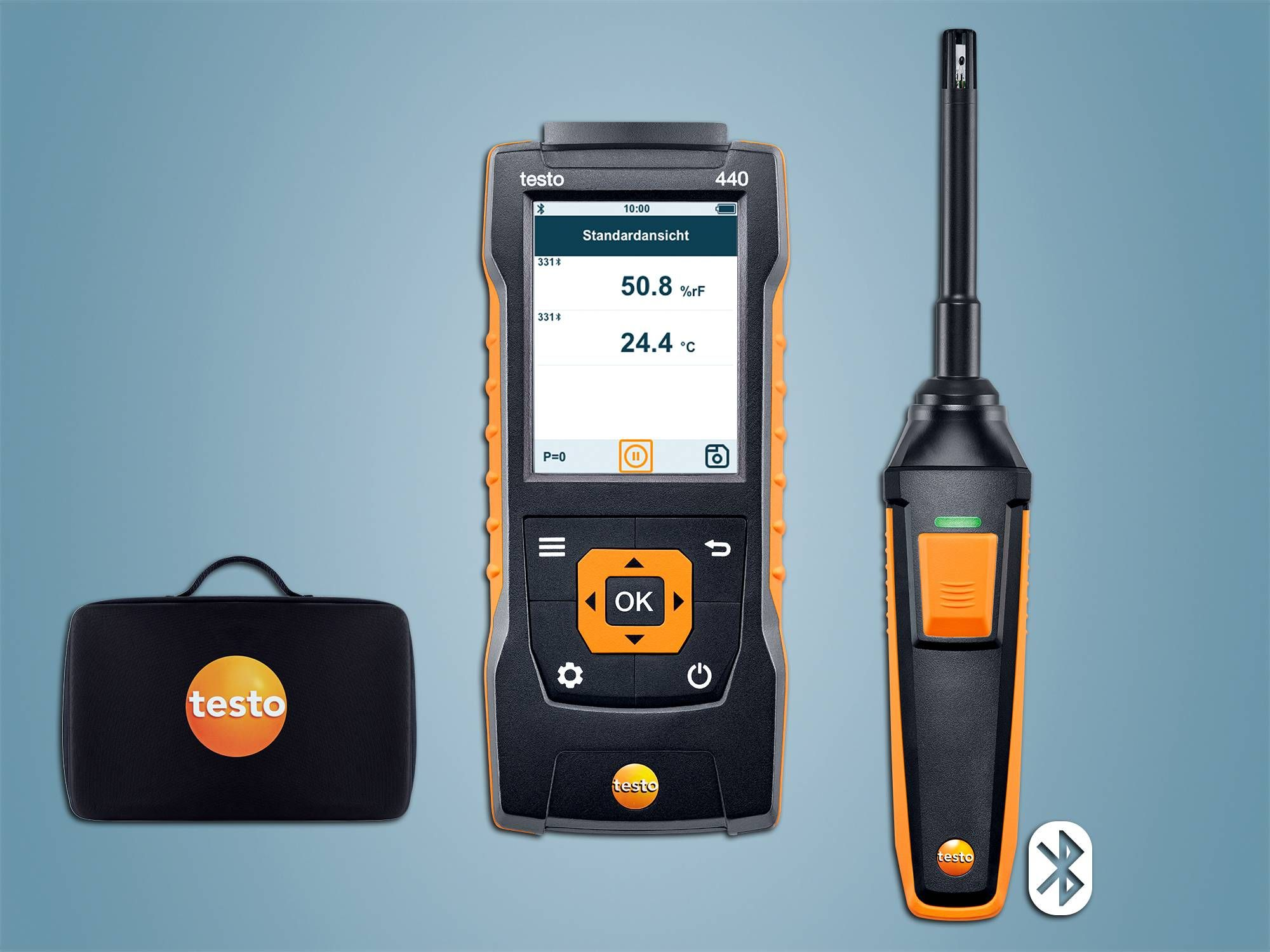 testo 440 vocht-set met Bluetooth