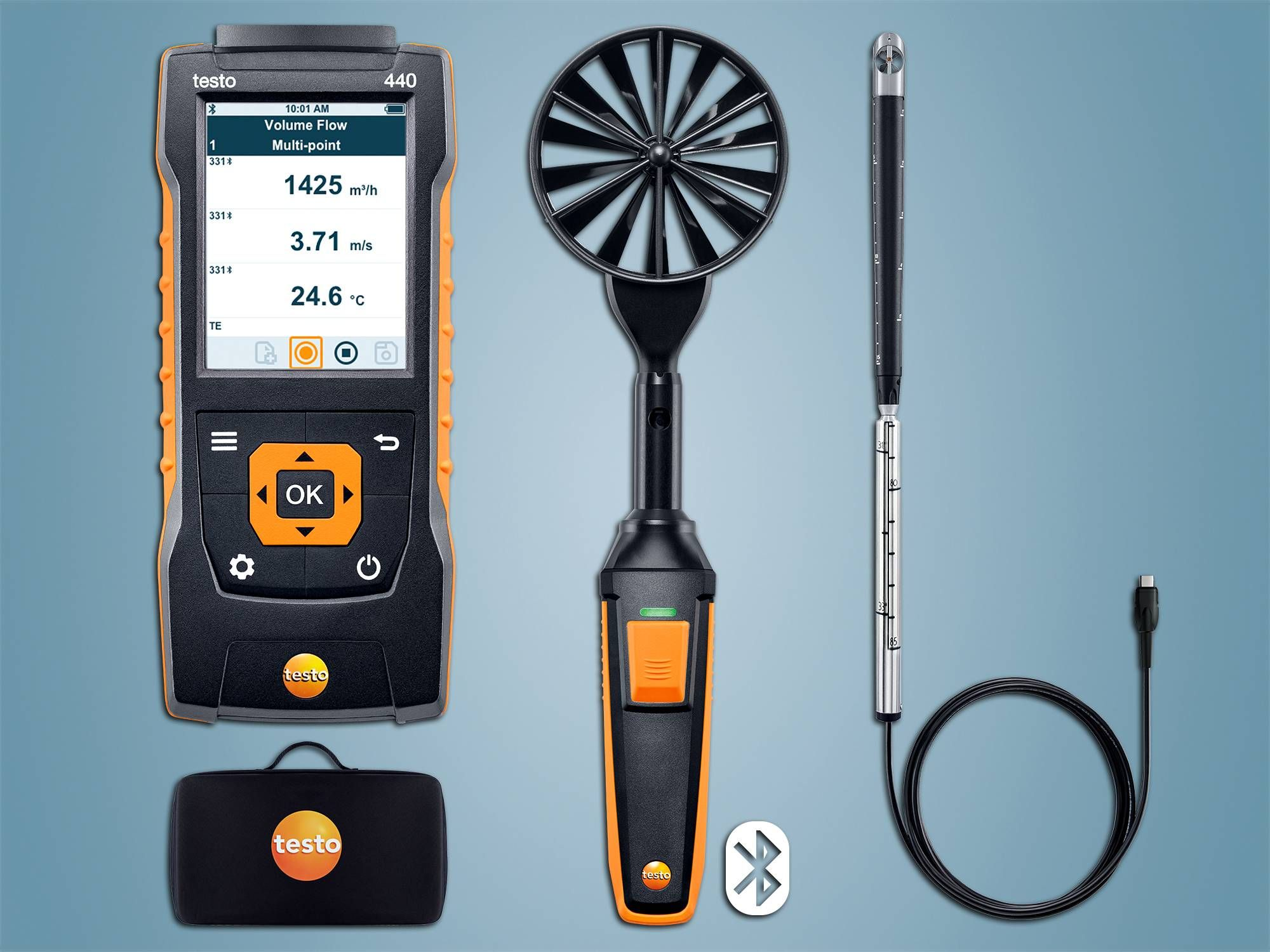 testo 440 Air Flow ComboKit 2 with Bluetooth