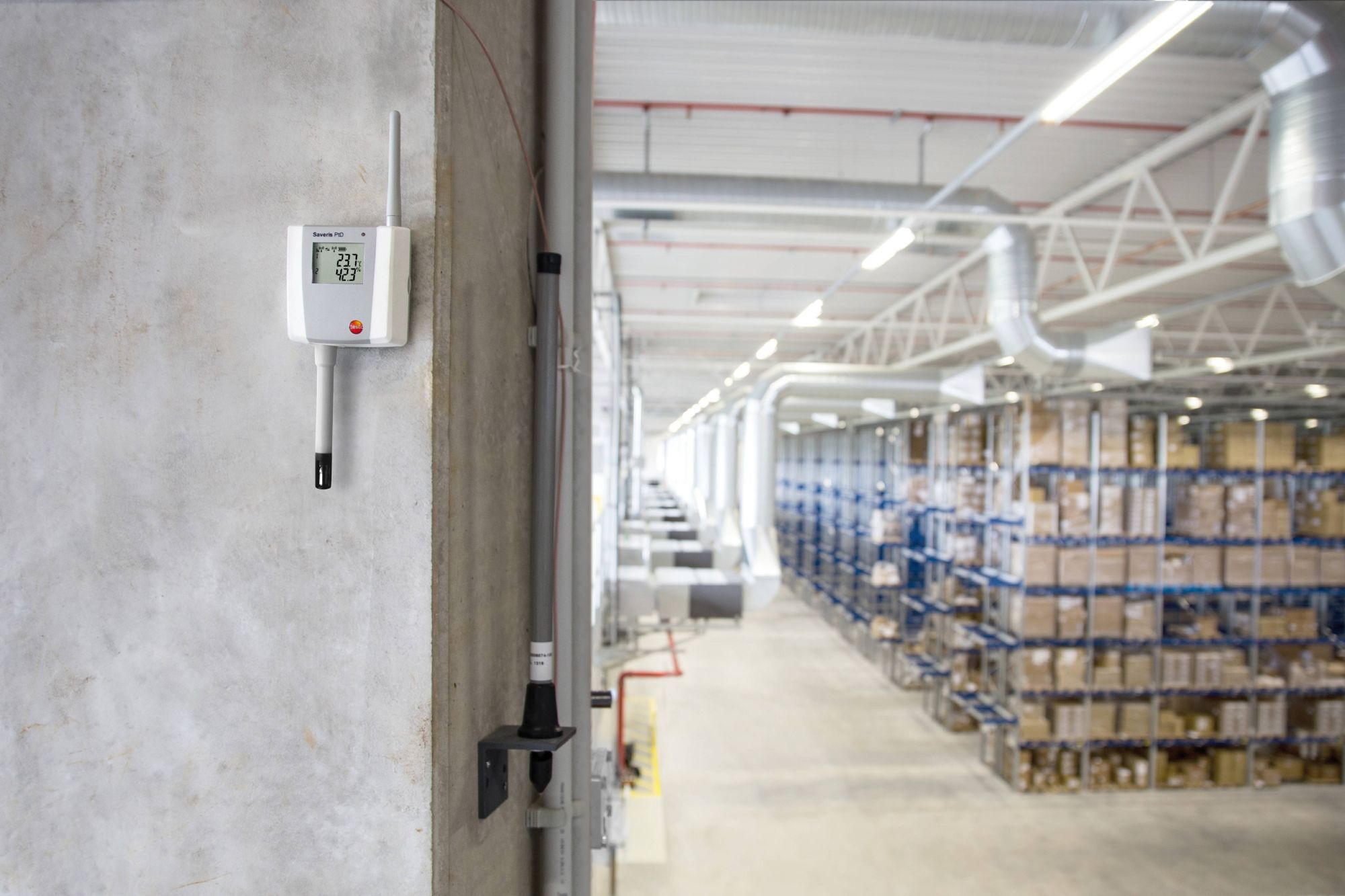 Indoor climate monitoring in storage