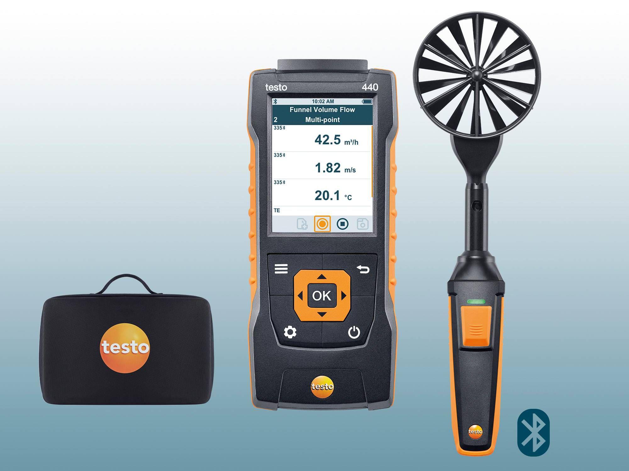 Kit testo 440 à hélice de 100 mm avec Bluetooth®