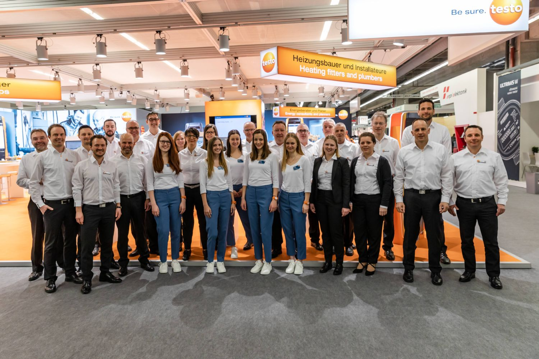 Das Testo Messeteam der ISH 2019