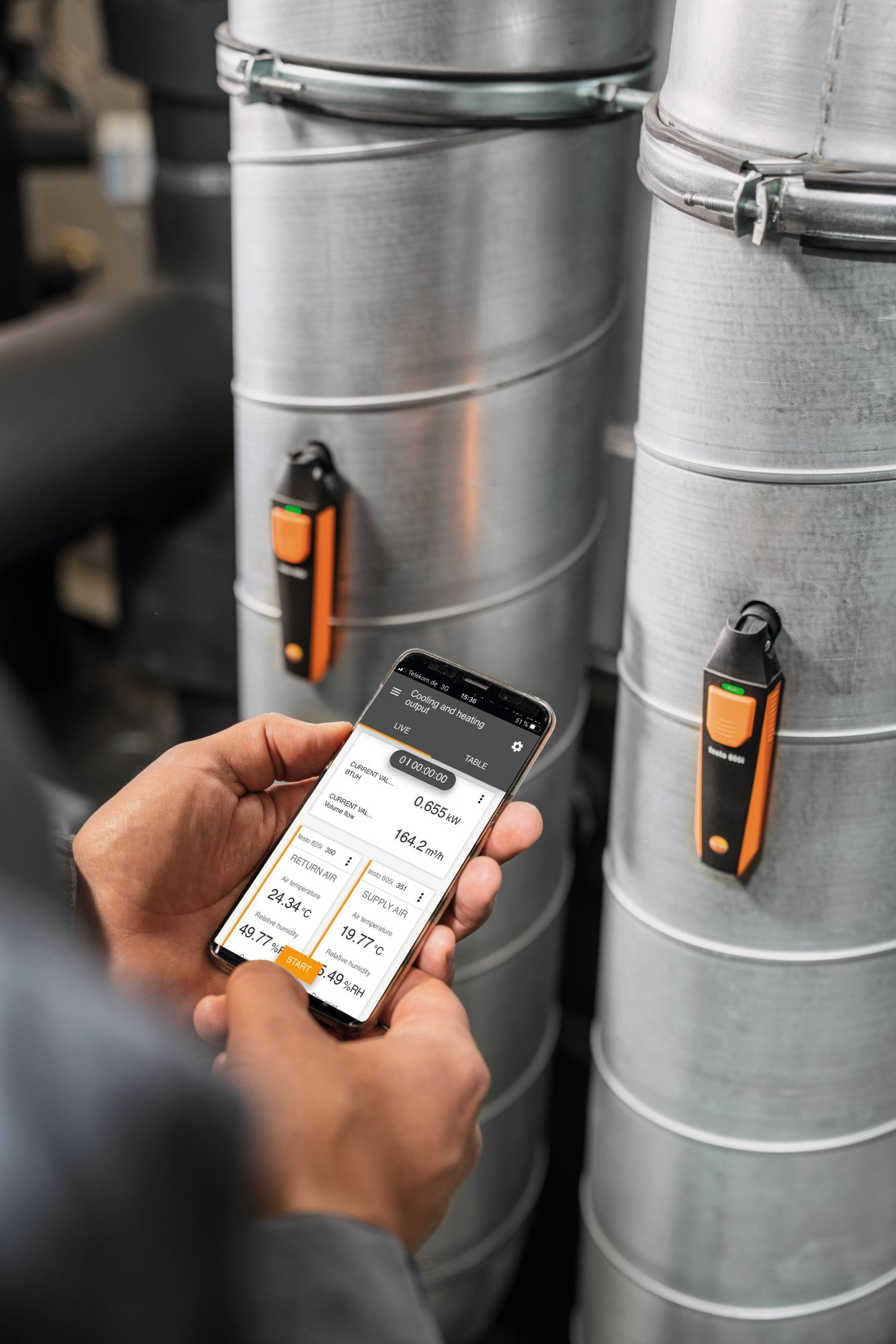 application testo Smart Probes HVAC set