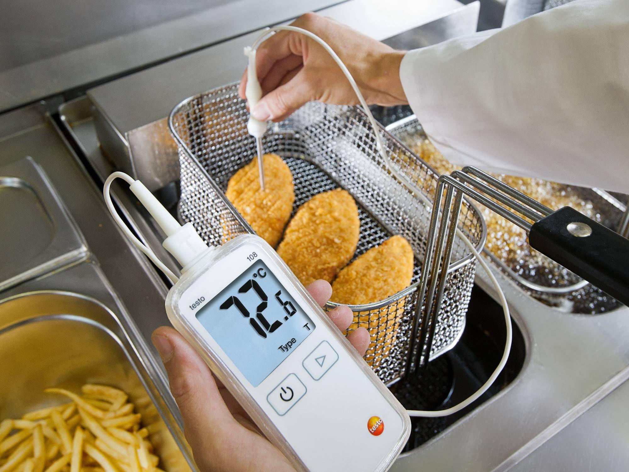 Temperature measuring instruments for food preparation