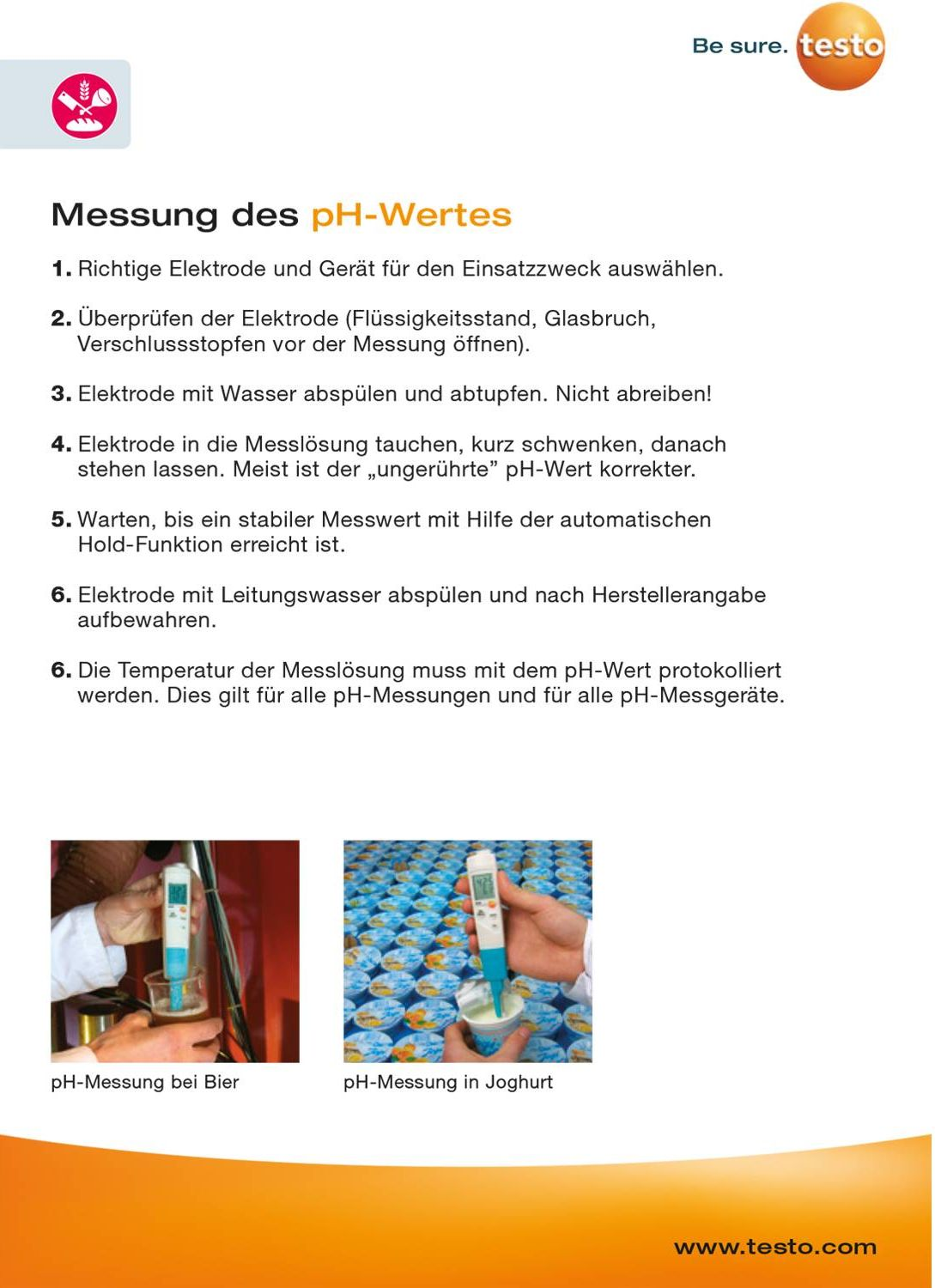 Trainingskarte - Temperatur & pH-Wert