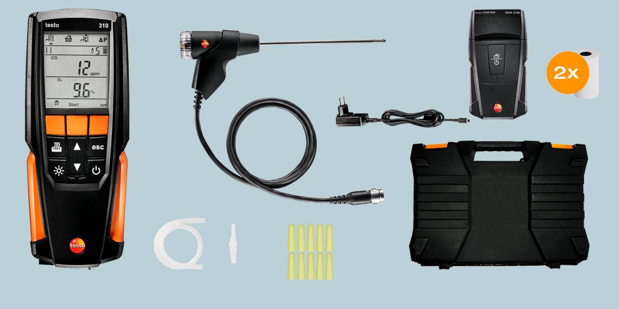 Kit testo 310 com impressora