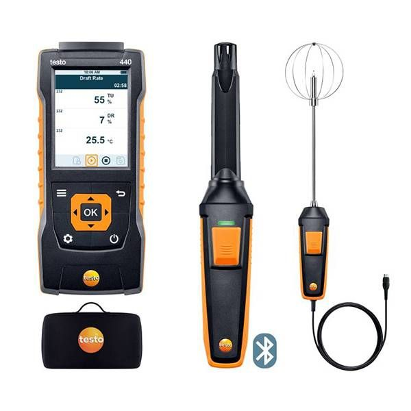 testo 440 Indoor Comfort ComboKit with Bluetooth