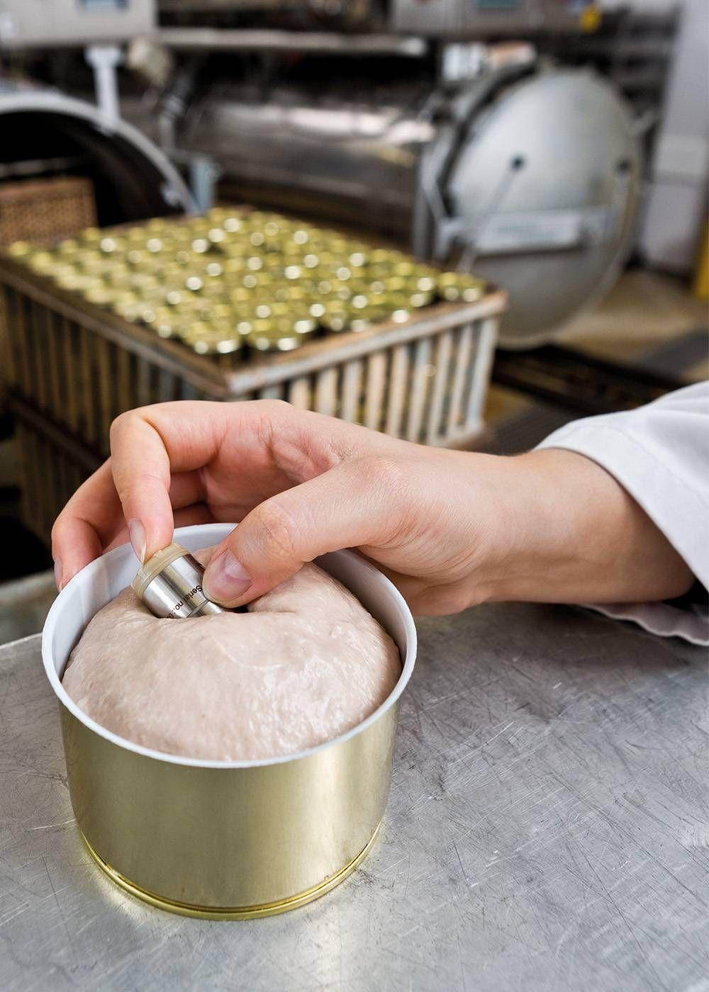 Sterilisation von Wurstkonserven mit testo 191
