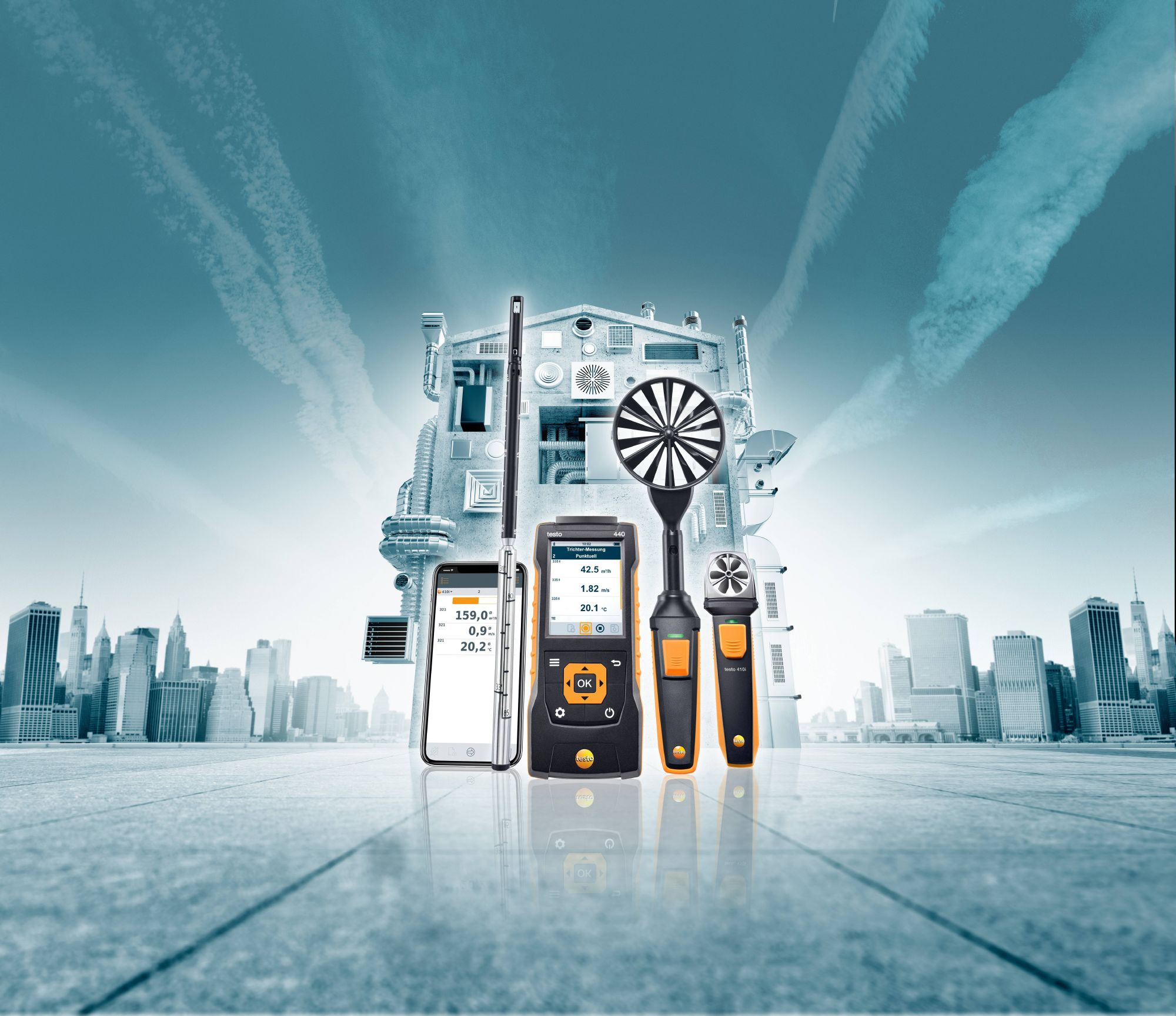 Measuring instruments for ventilation and indoor air