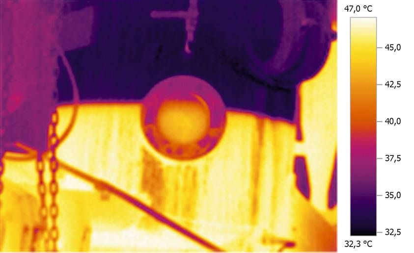 Thermal image of fill level monitoring
