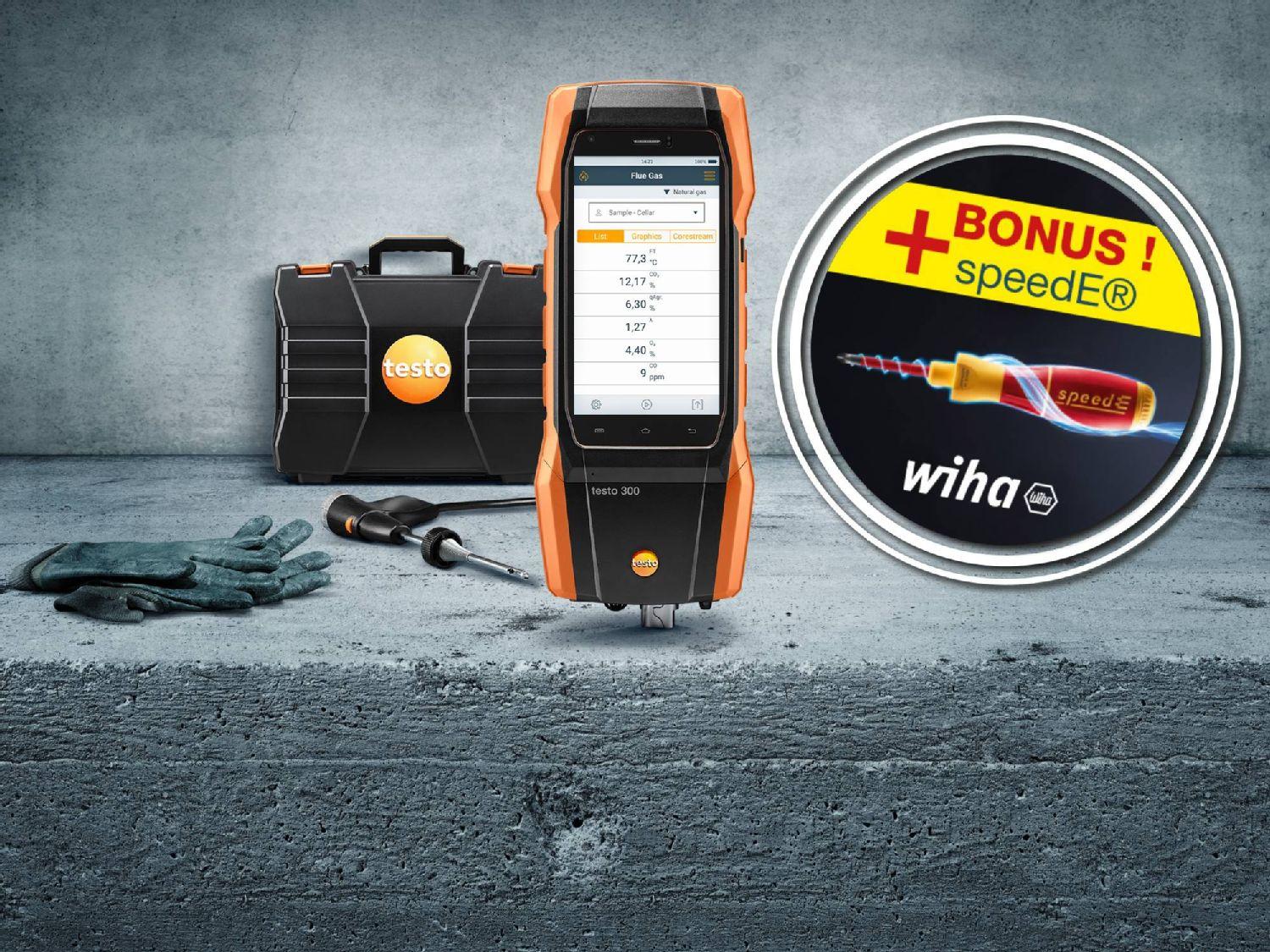 Kit promotionnel testo 300 et kit tournevis speedE® de Wiha