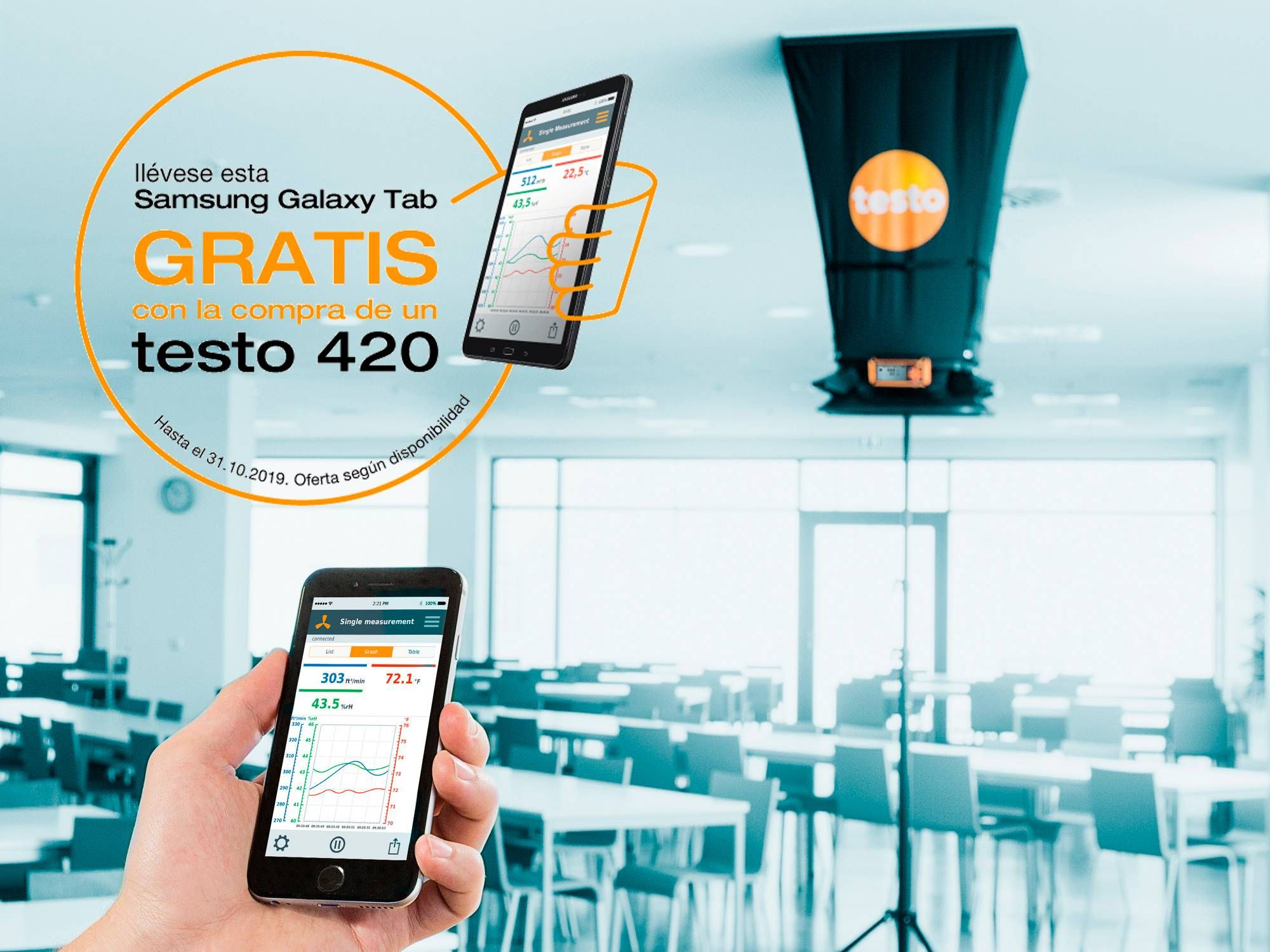 Balómetro Testo 420 con tablet de regalo