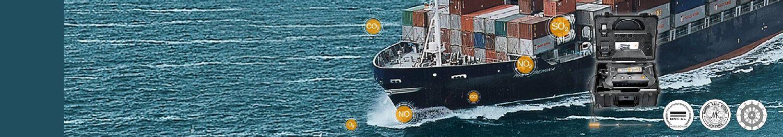 <strong>船用柴油發動機</strong>廢氣排放 <br/>船用 testo 350 煙氣分析儀