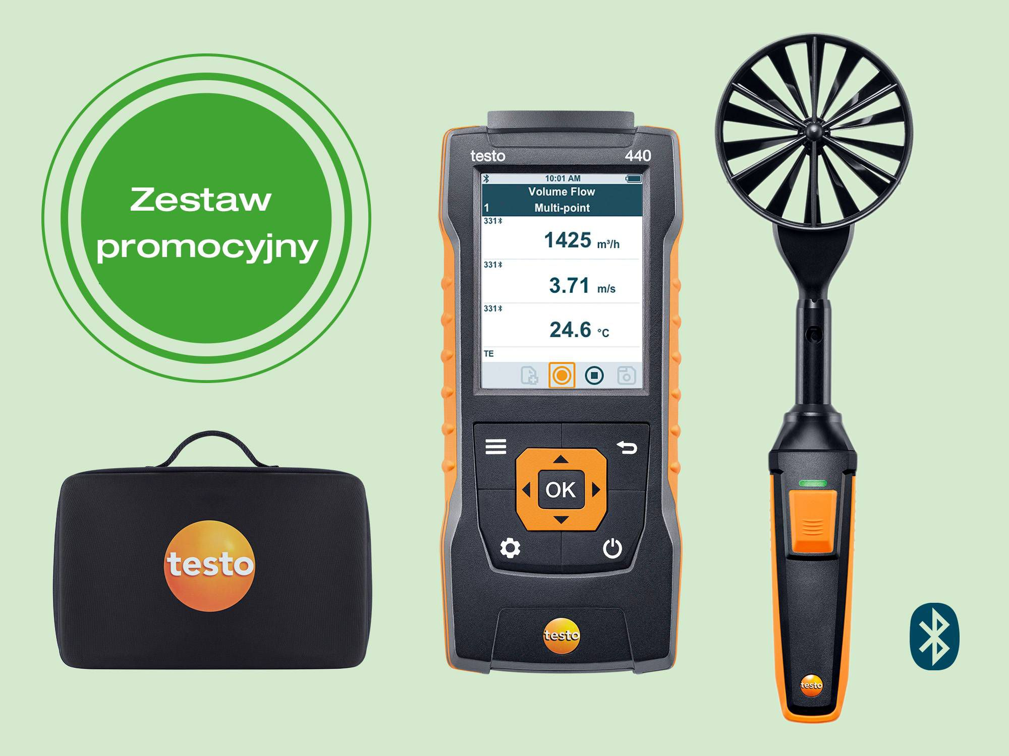testo 440 100 mm Vane Kit with Bluetooth®