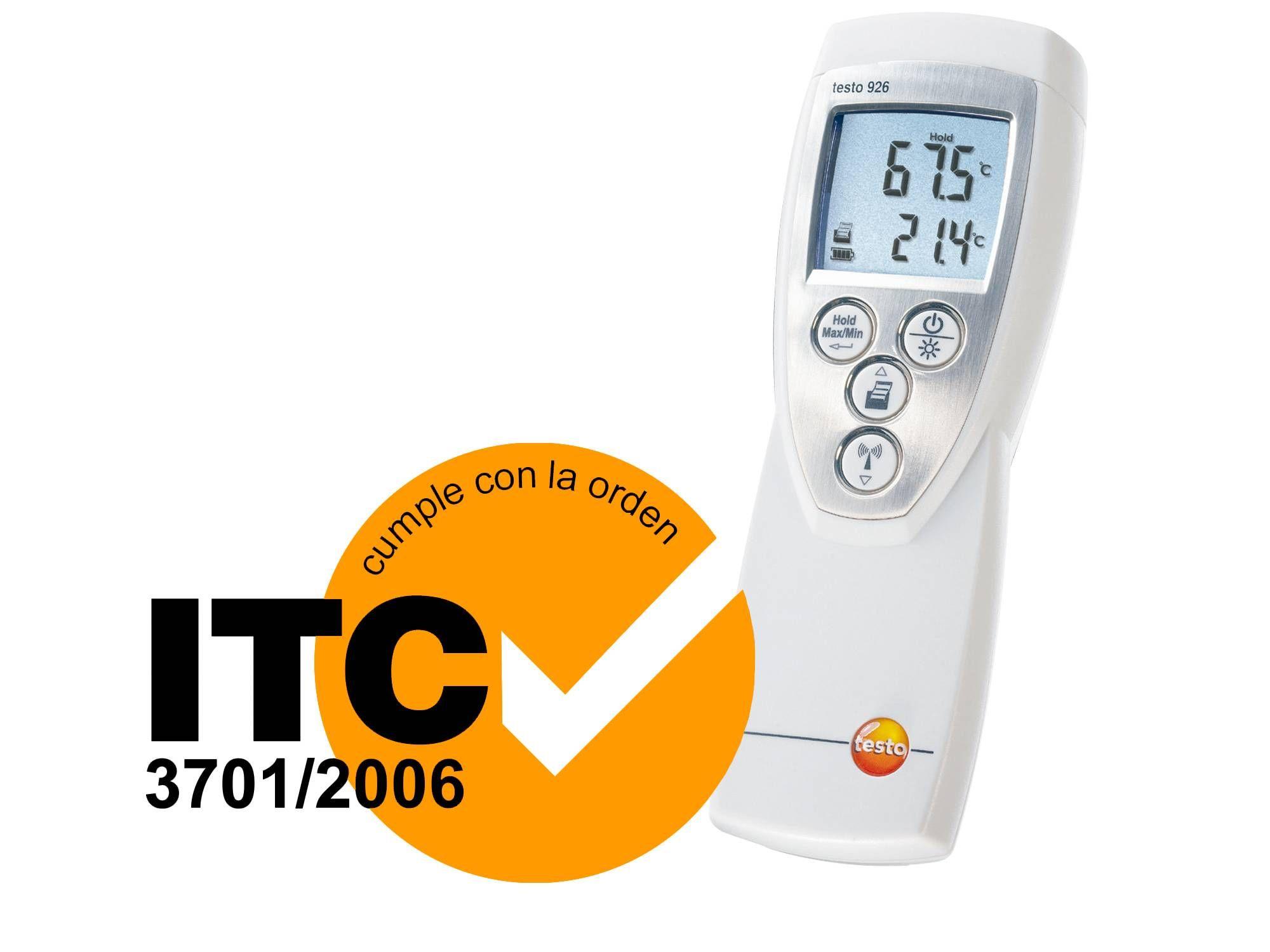 El termómetro testo 926 cumple la ITC