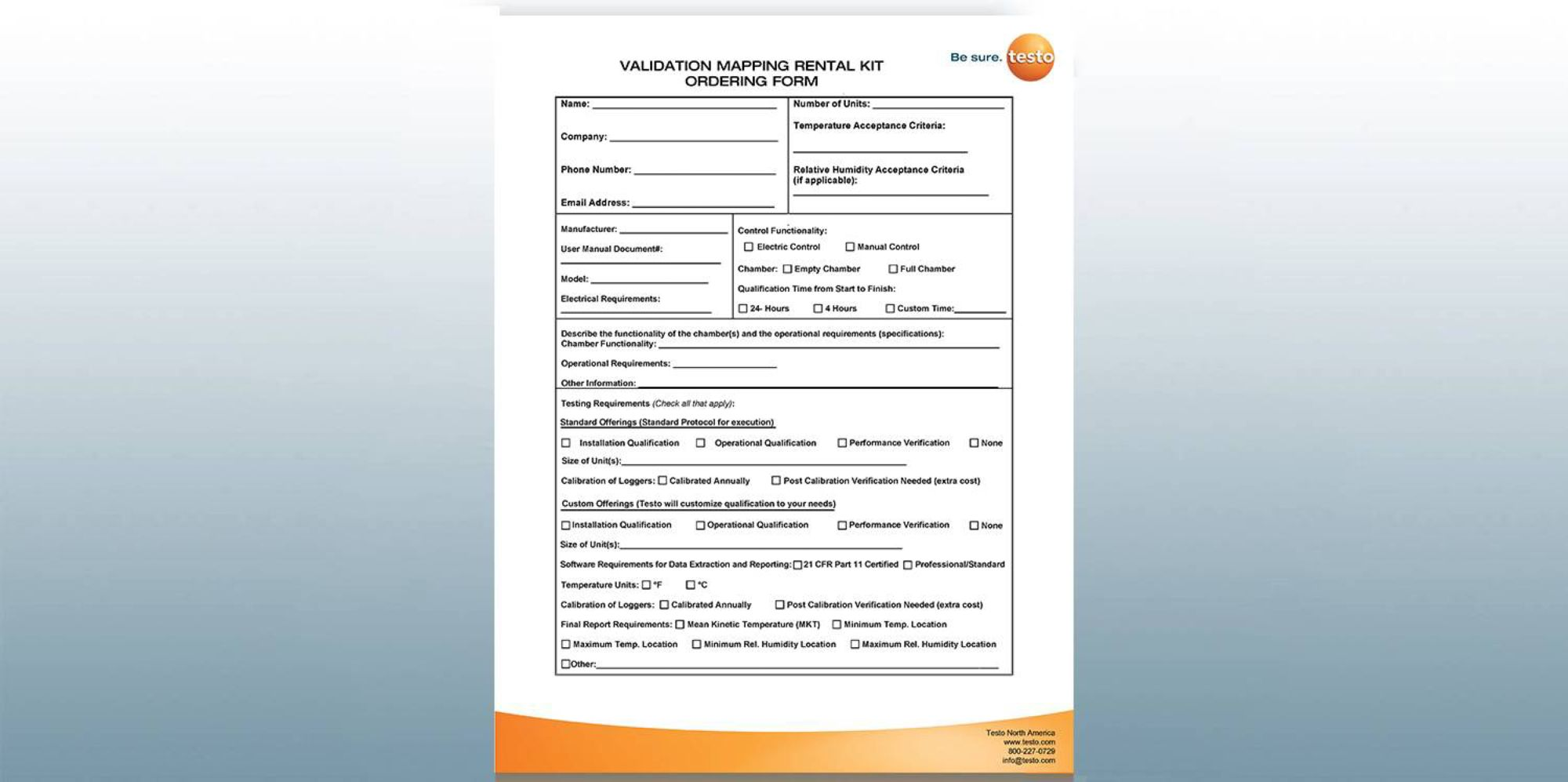 Validation Mapping Kit Rental Form