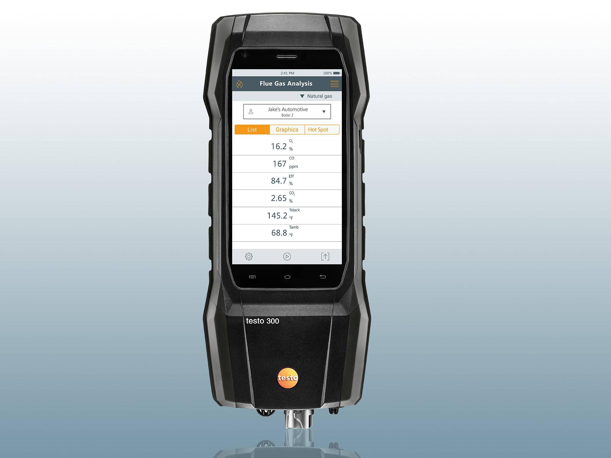 Flue gas analyzer testo 300