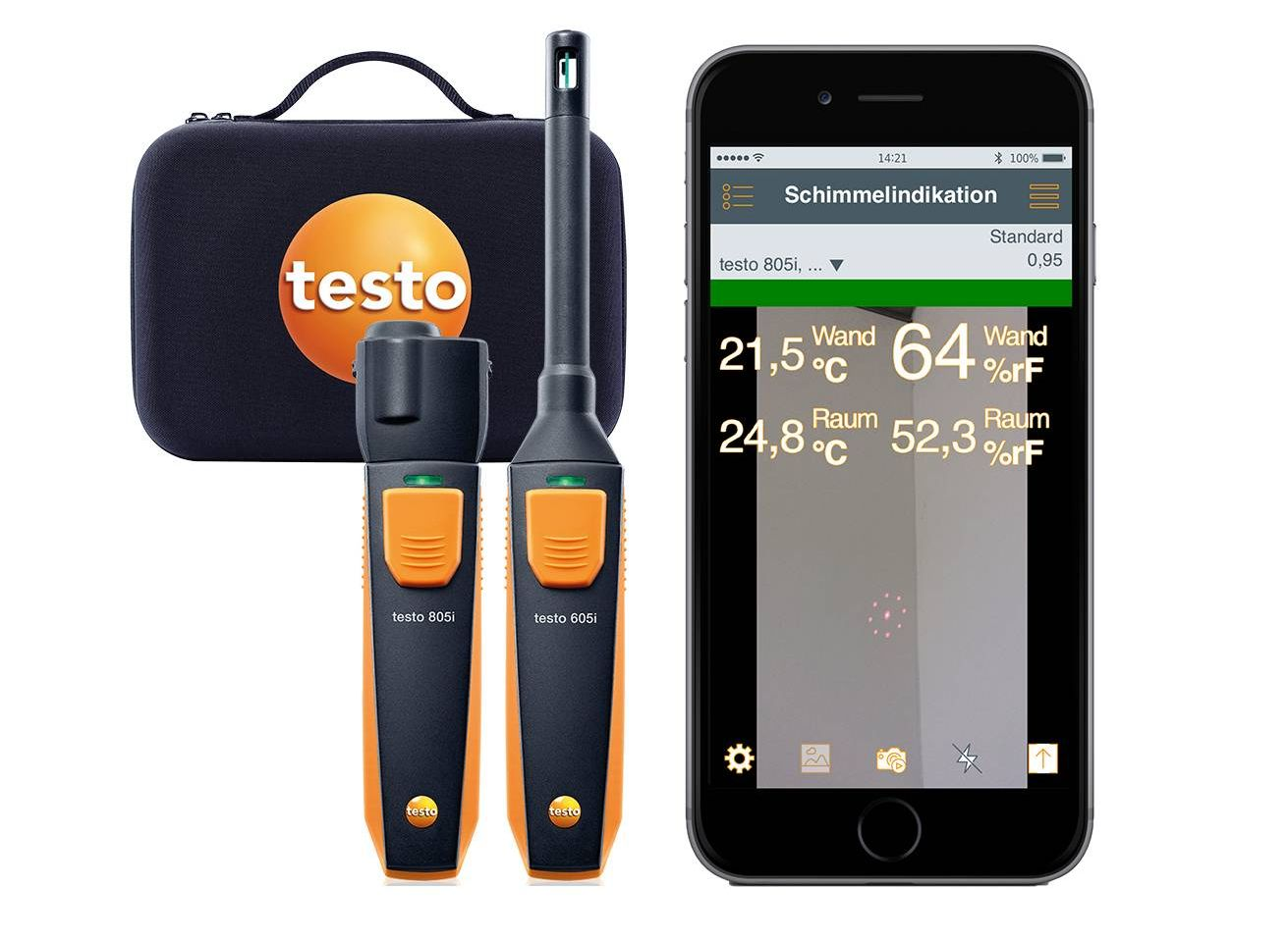 testo Smart Probes Anwendungs-Highlight Schimmeldetektion
