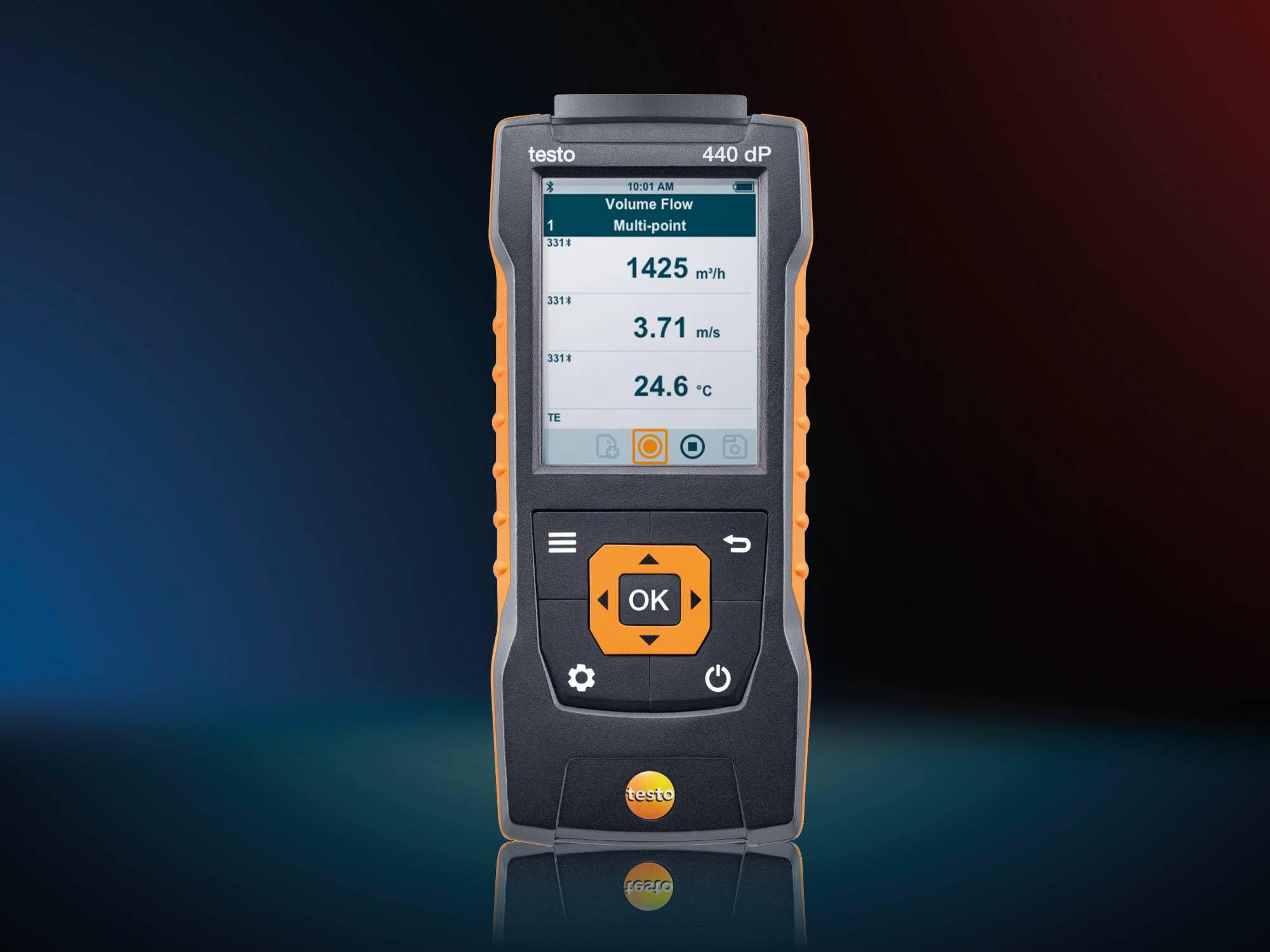 Set para medición de velocidad testo 440