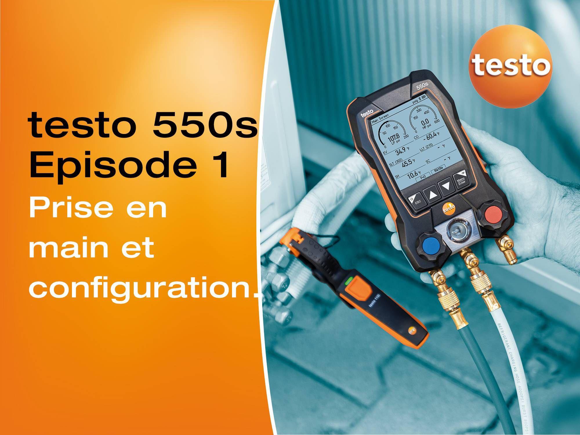 Tutoriel vidéo sur la prise en main et la configuration du manomètre digital testo 550s
