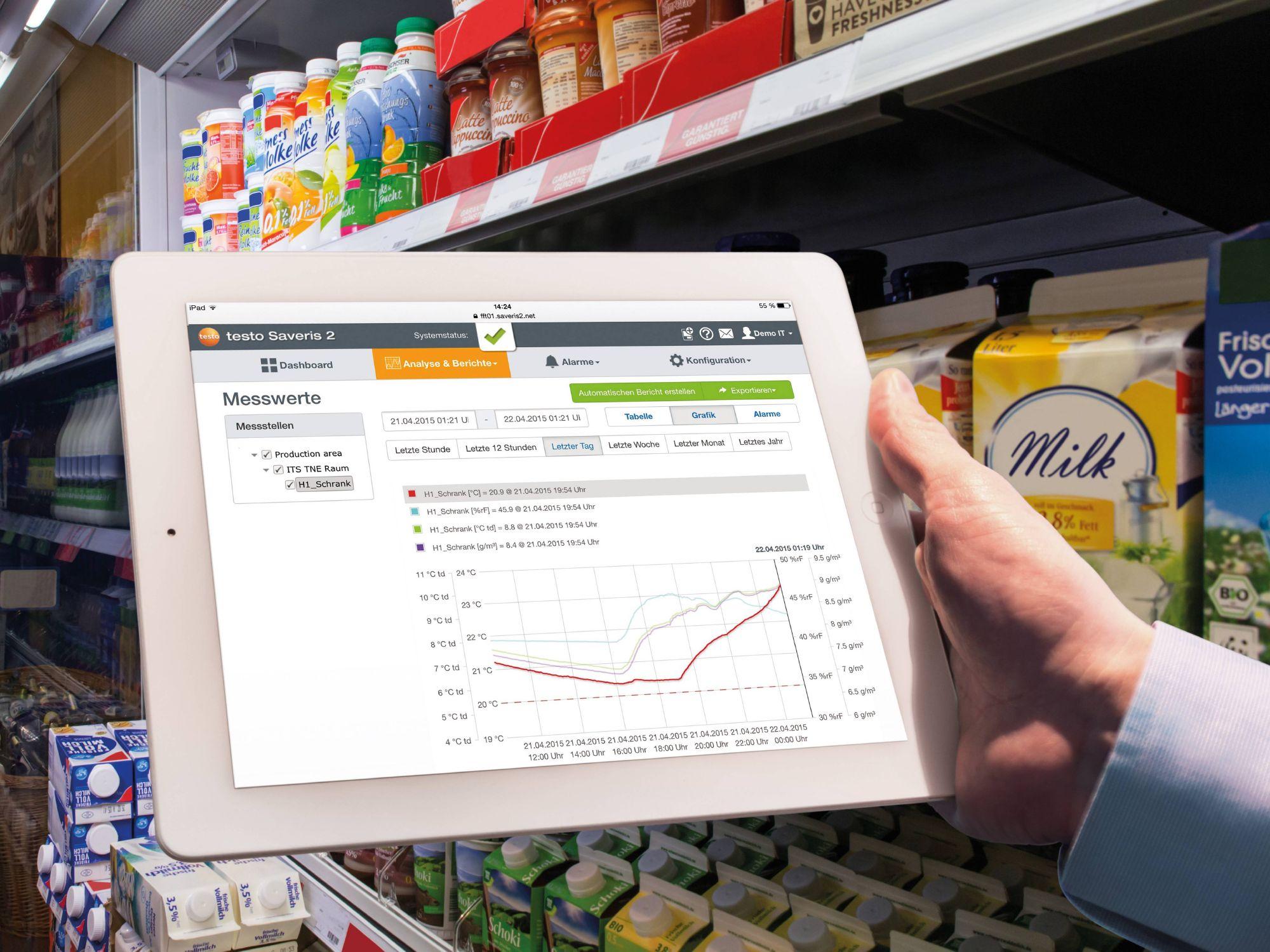 Temperaturüberwachung im Supermarkt