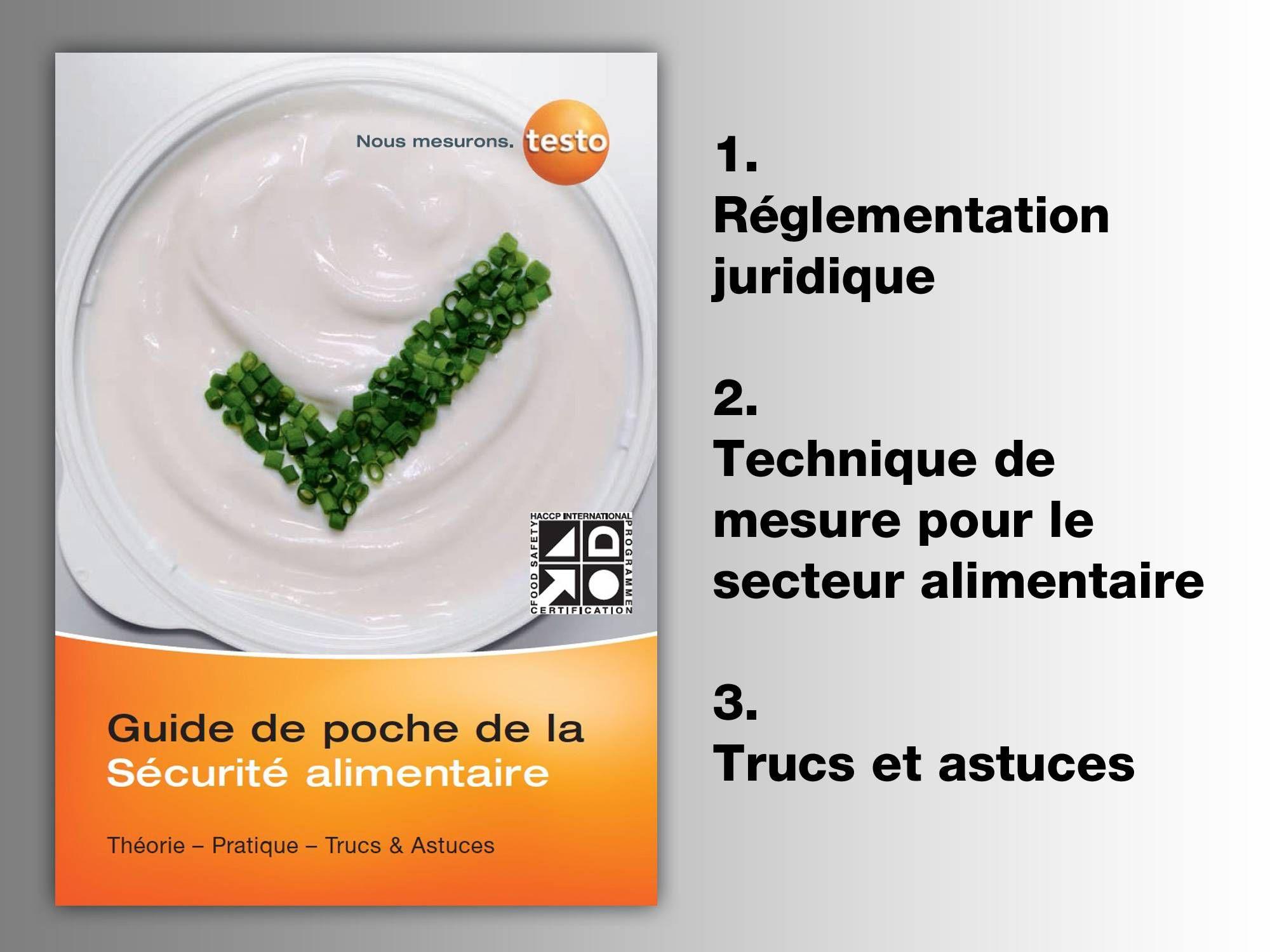 """Guide de poche testo """"La sécurité alimentaire"""""""